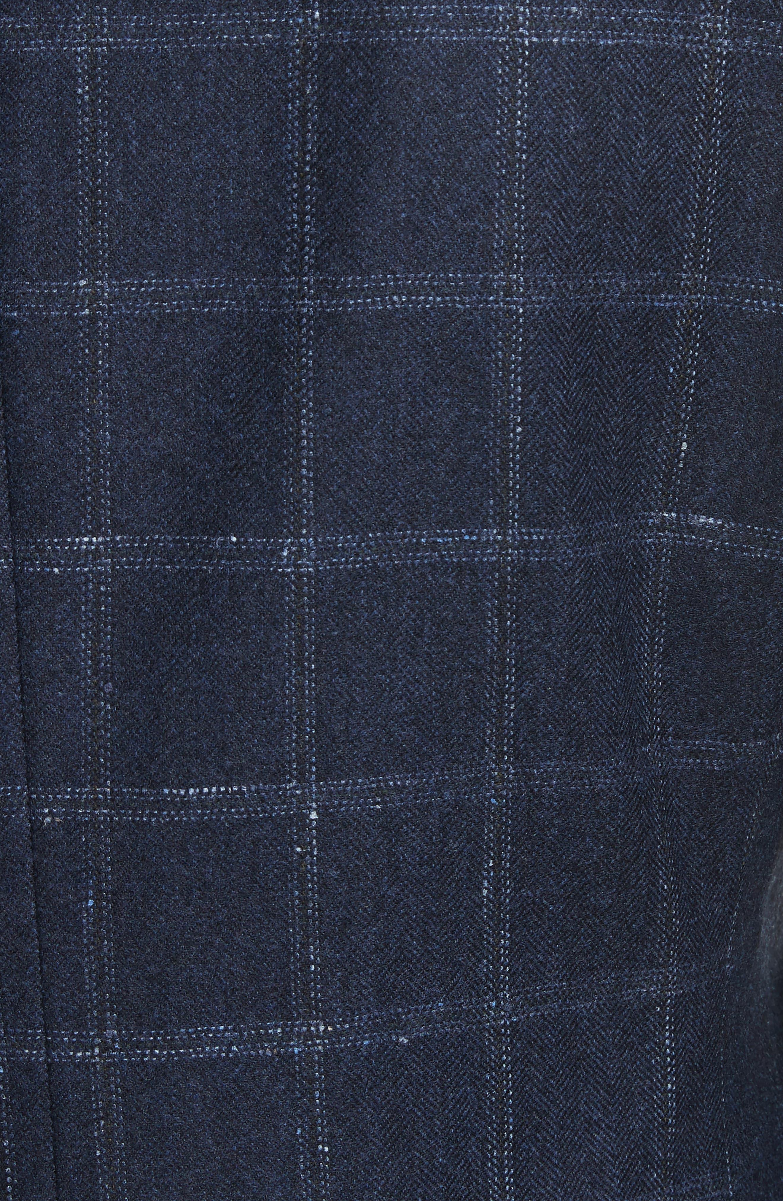 Alternate Image 5  - Canali Classic Fit Windowpane Wool & Cashmere Sport Coat