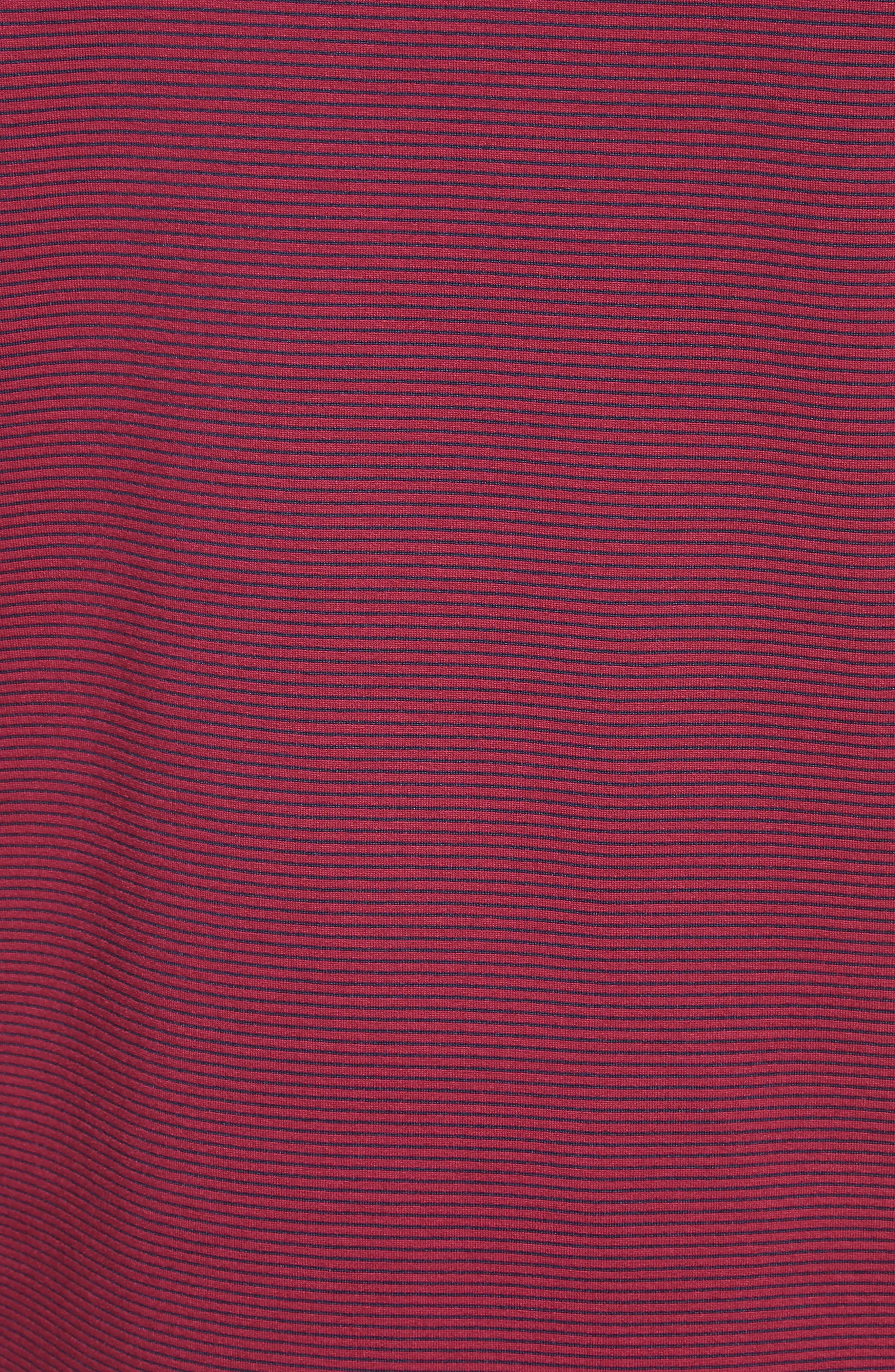 Slim Fit Knit Shirt,                             Alternate thumbnail 5, color,                             Borgogna