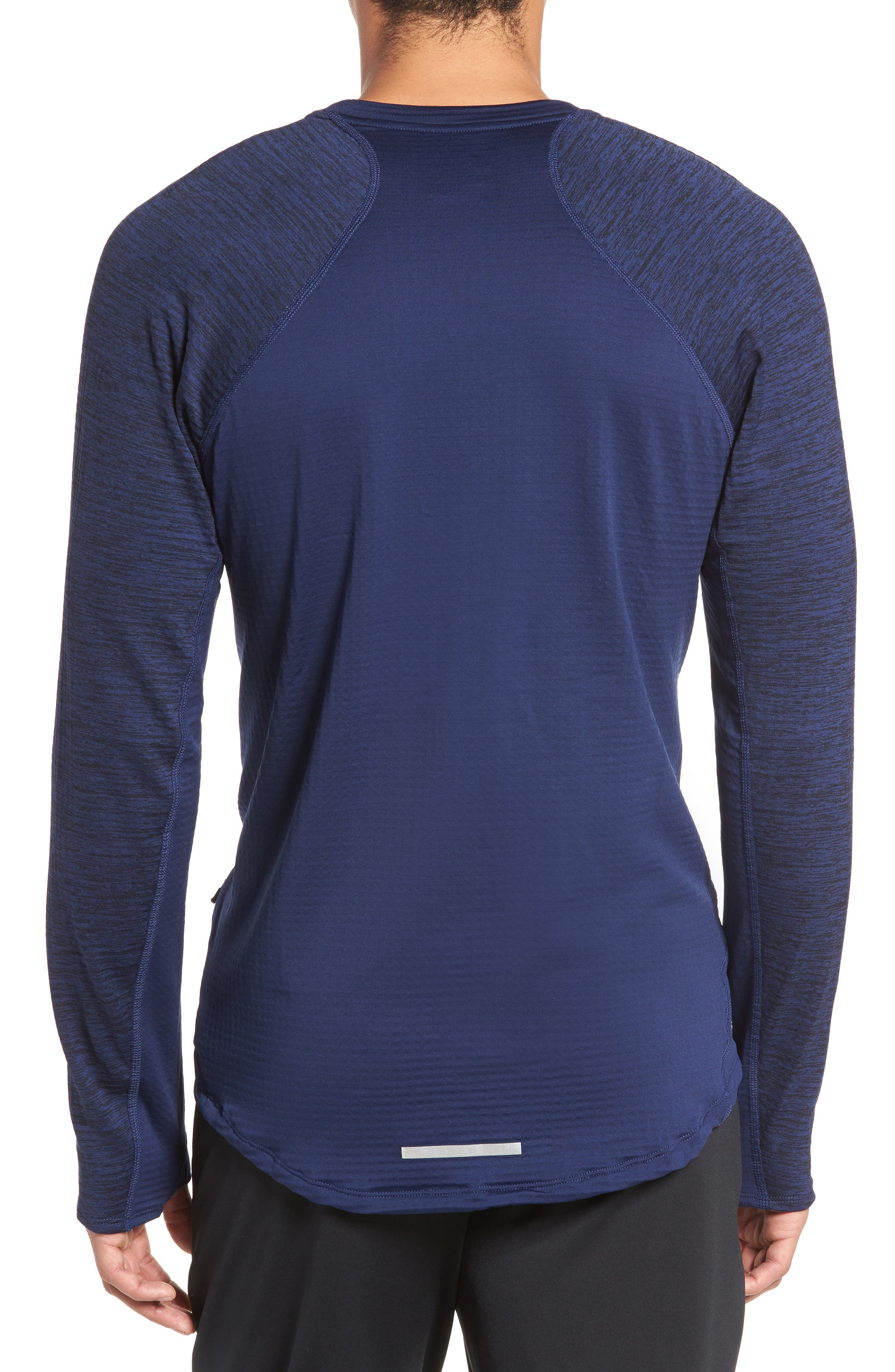 ThermaSphere Long Sleeve Running T-Shirt,                             Alternate thumbnail 6, color,                             Binary Blue/ Purple/ Heather