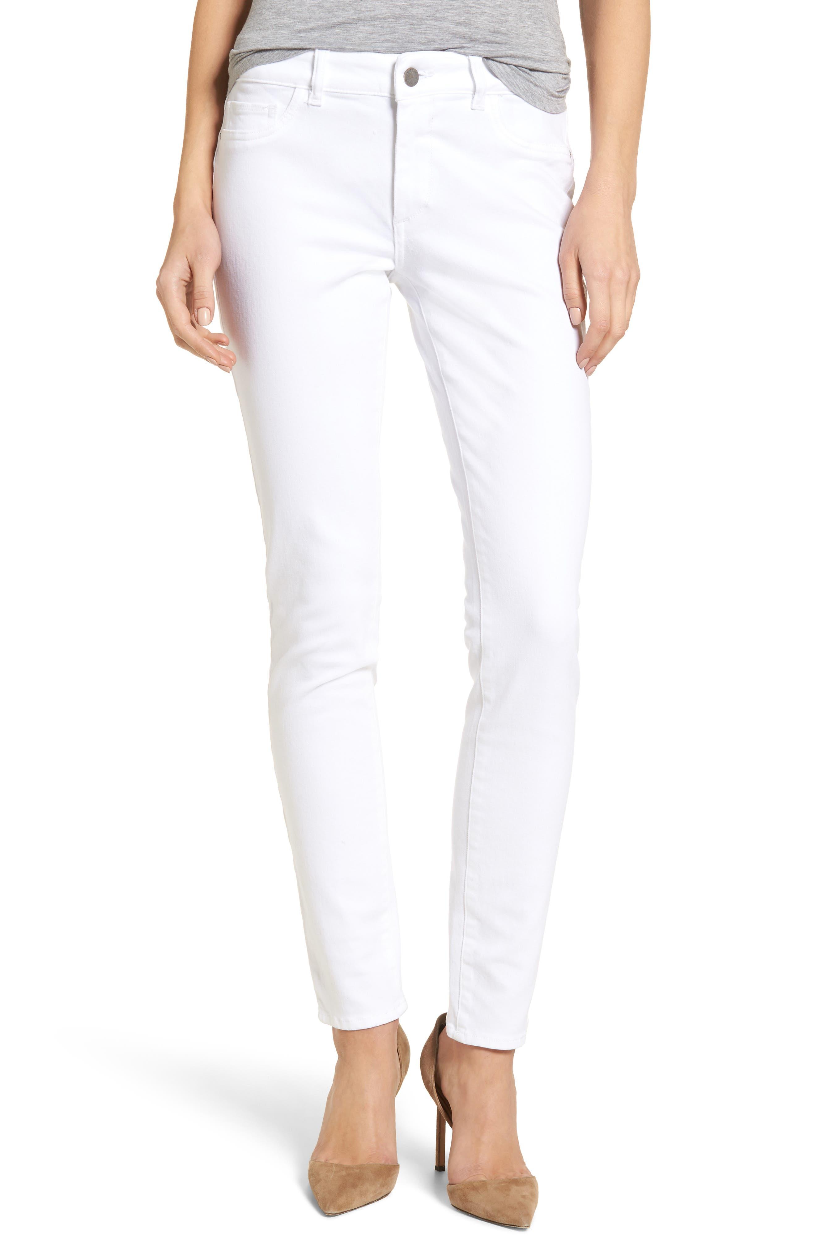 Alternate Image 1 Selected - DL1961 Florence Skinny Jeans (Porcelain)