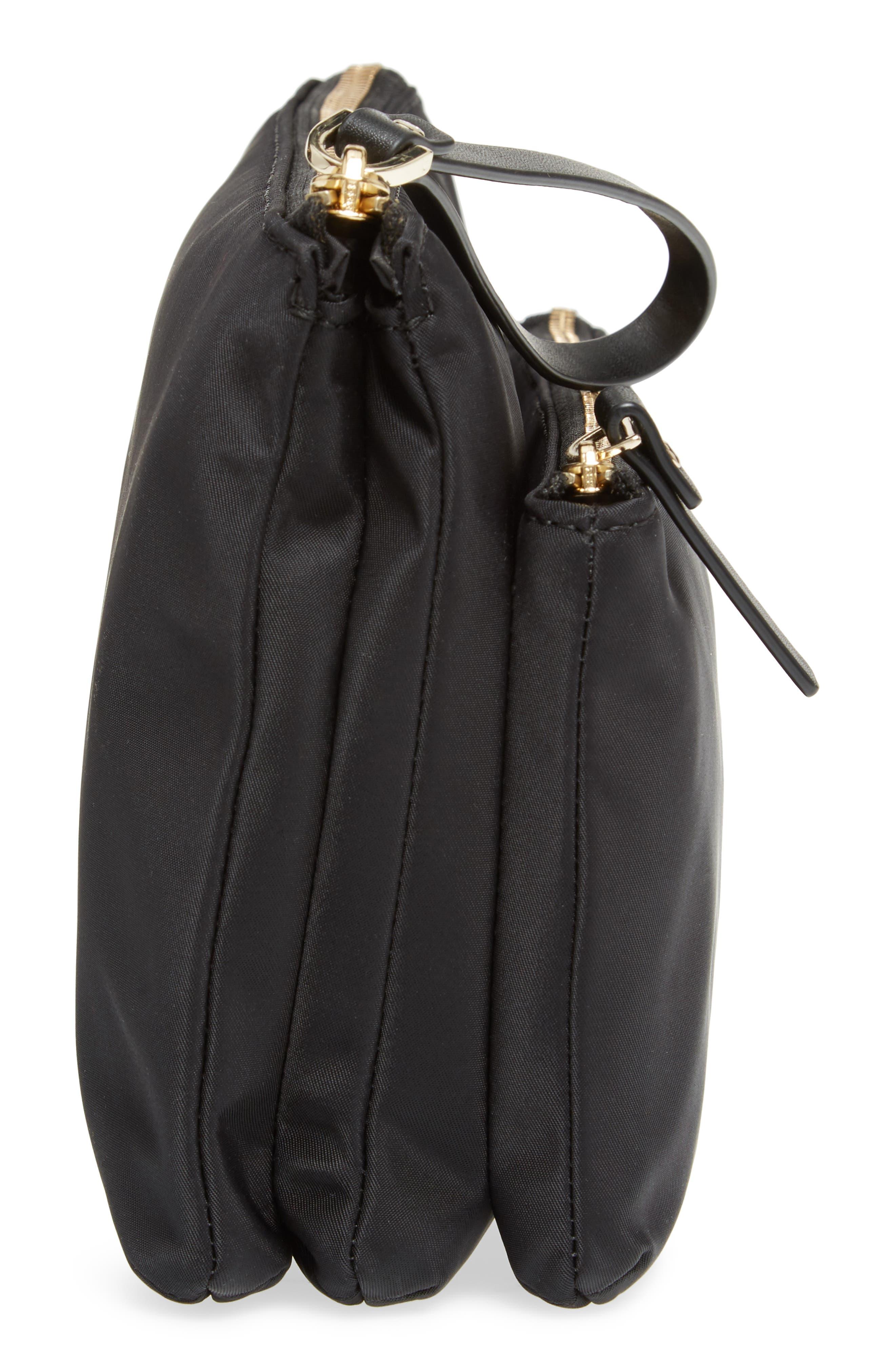 watson lane winnie baby nylon pouch with changing mat,                             Alternate thumbnail 5, color,                             Black