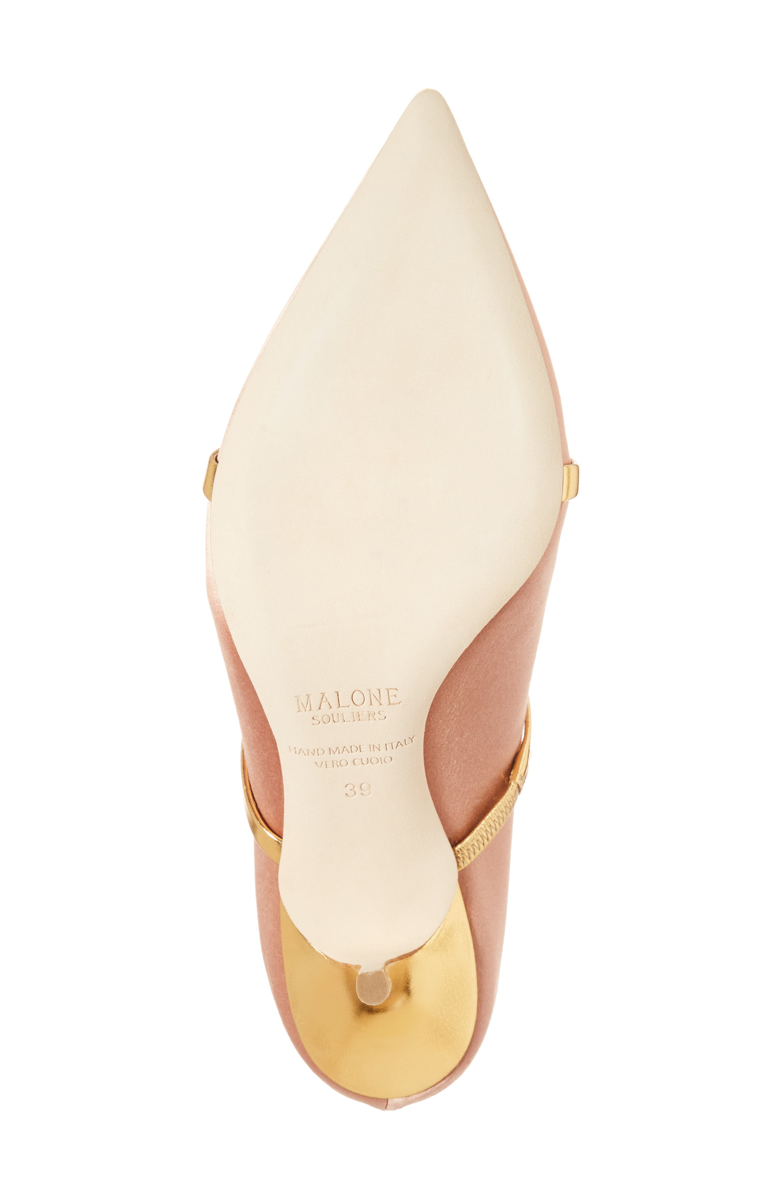 Maureen Double Band Mule,                             Alternate thumbnail 6, color,                             Blush/ Gold