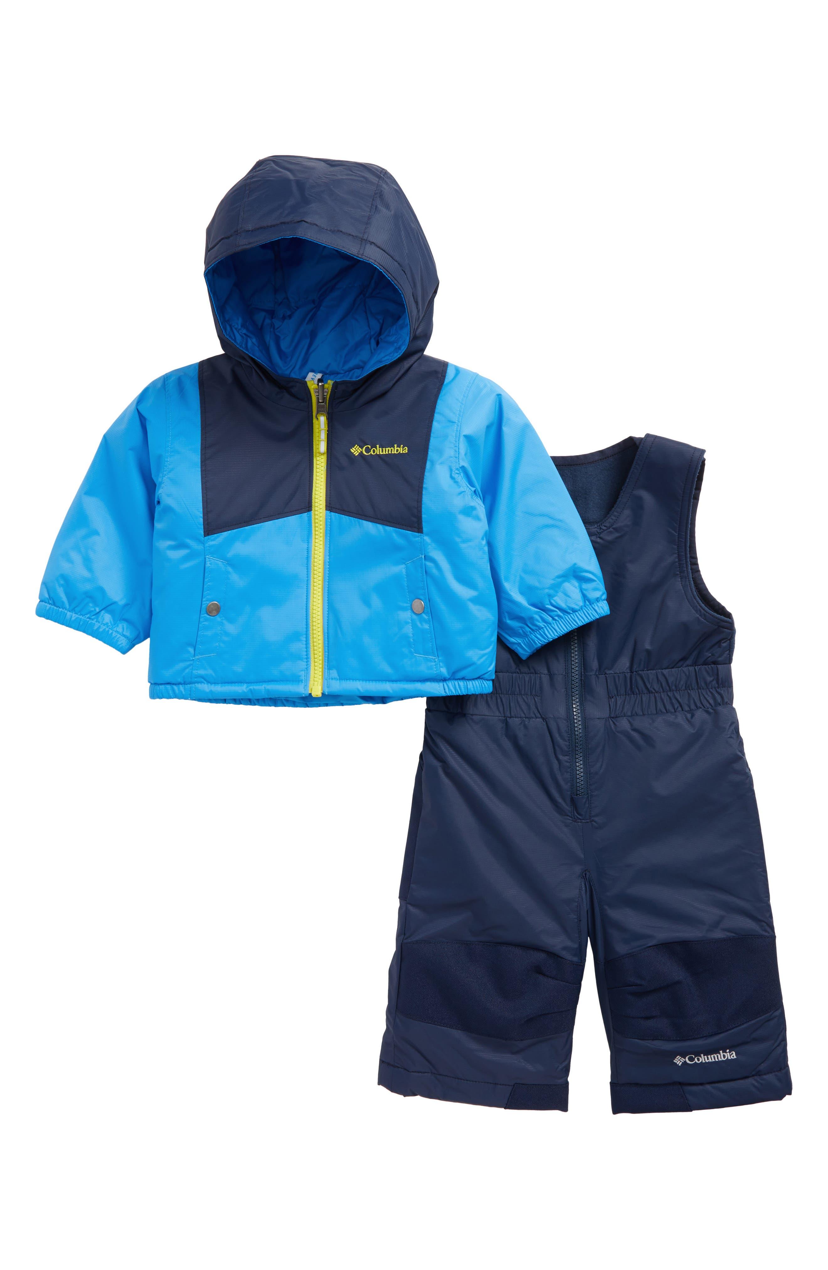 Columbia Double Flake Waterproof Insulated Jacket & Bib Snowsuit (Baby Boys)