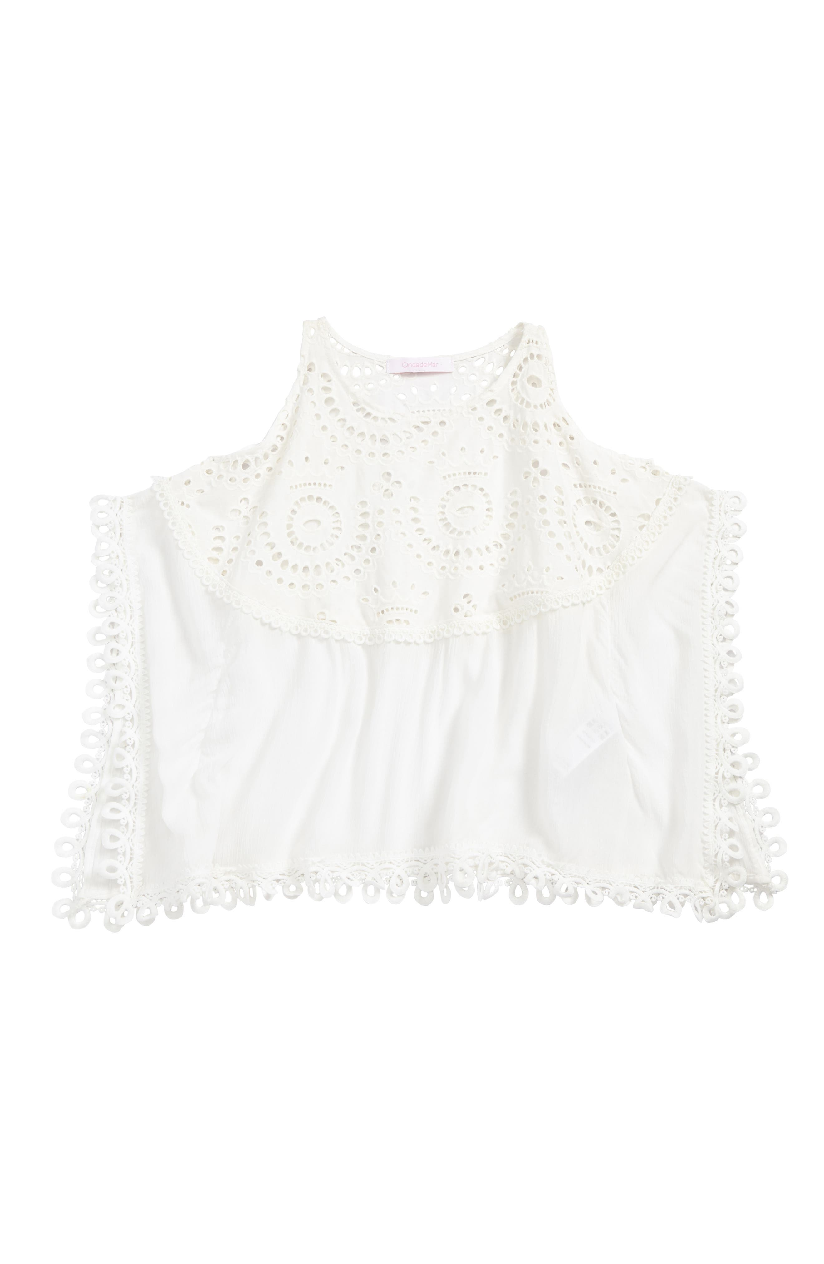Cover-Up Poncho,                         Main,                         color, White