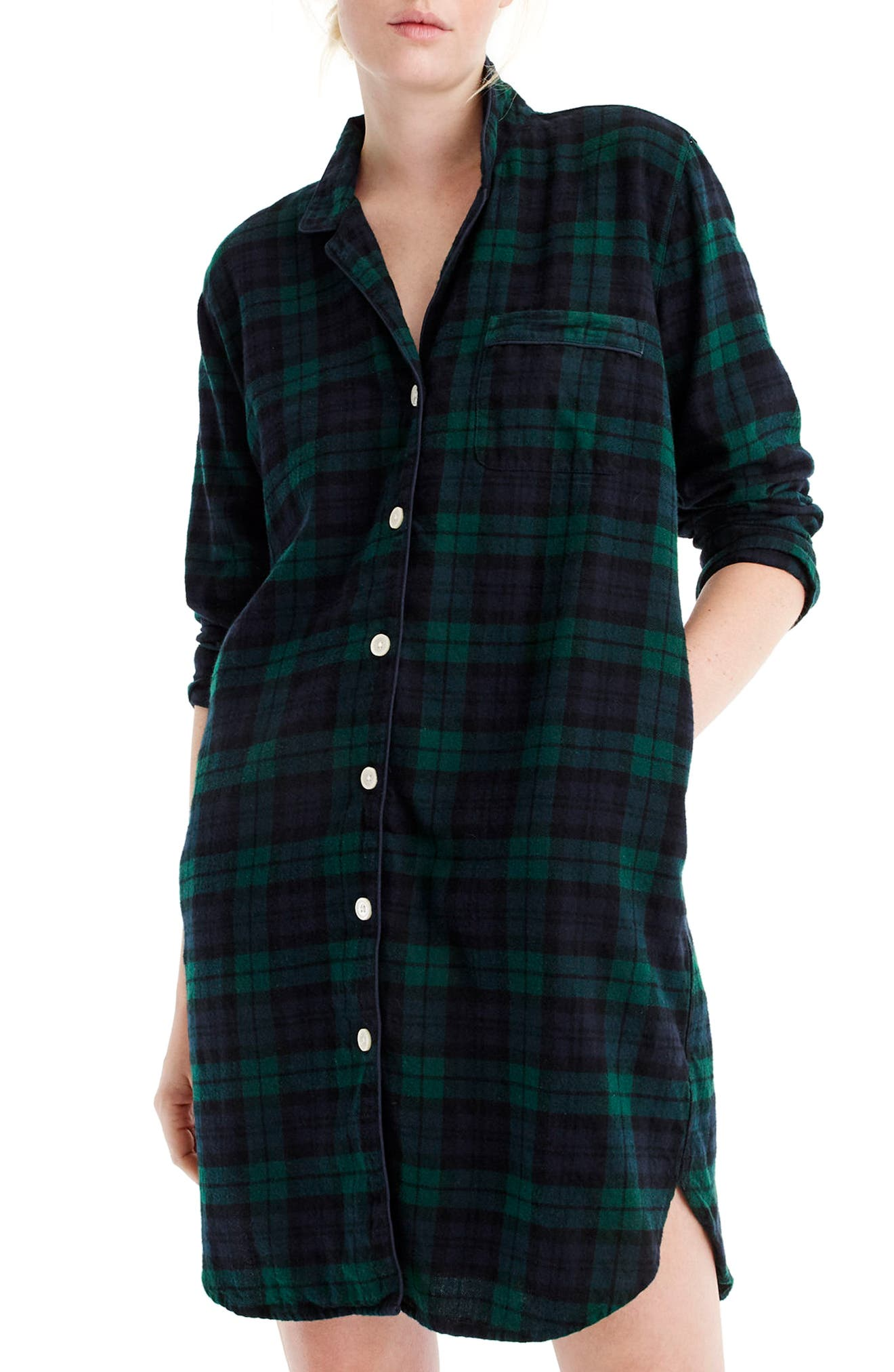 J.Crew Blackwatch Flannel Sleep Shirt