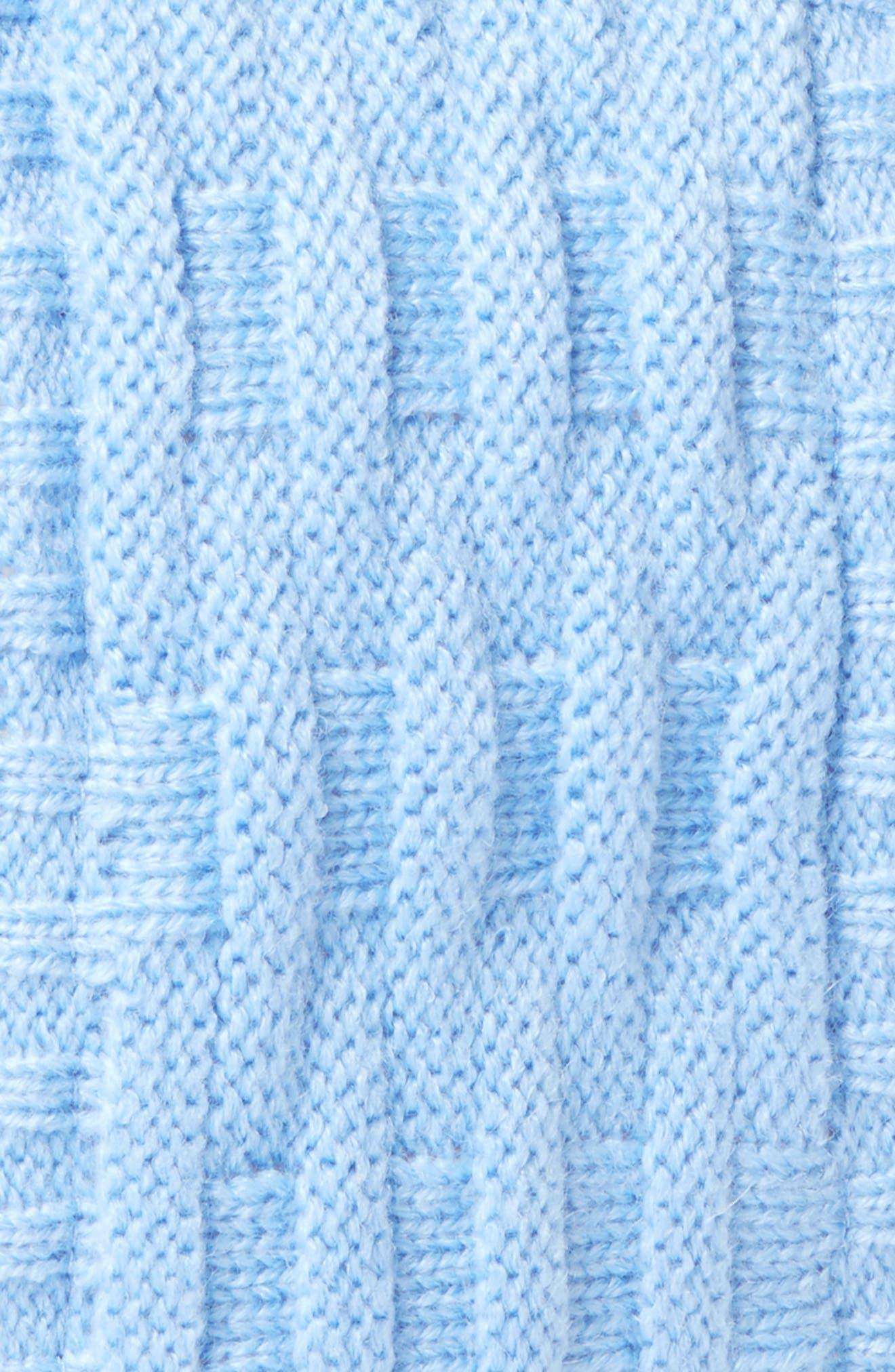 Cross Cable Knit Headband,                             Alternate thumbnail 2, color,                             Azure
