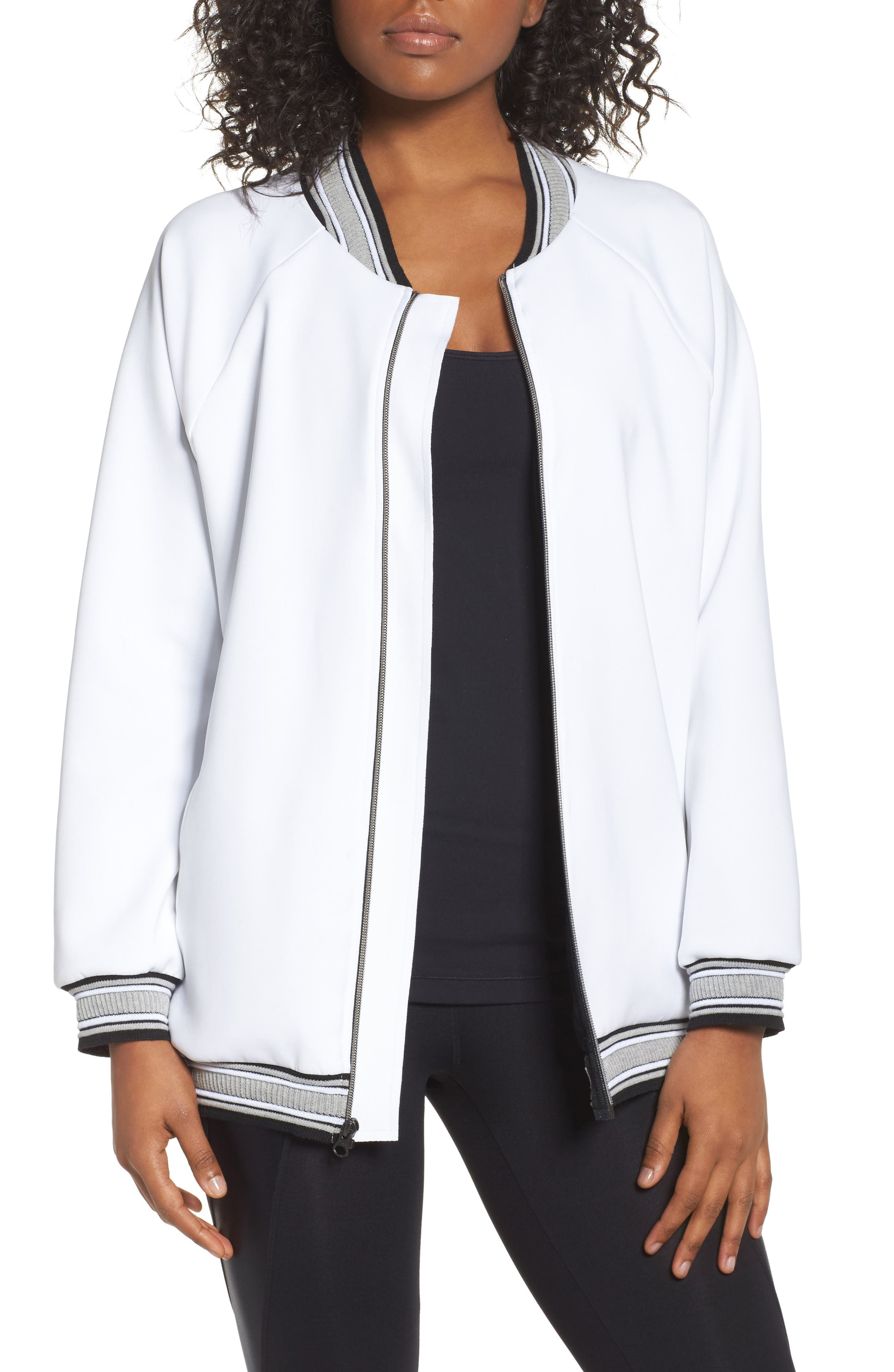 Recovery Bomber Jacket,                         Main,                         color, White