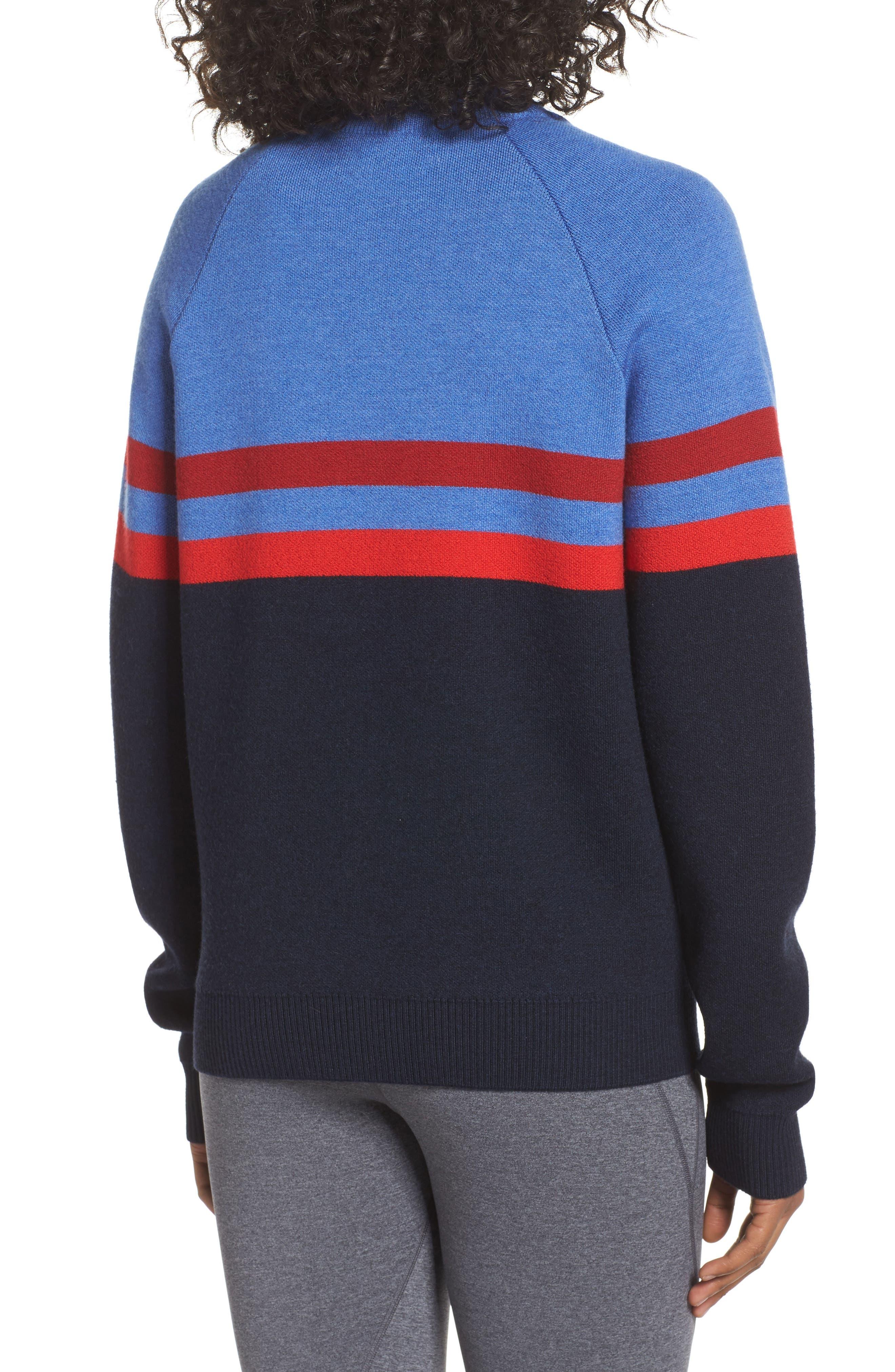 Merino Wool Zip Jacket,                             Alternate thumbnail 2, color,                             Sky Blue