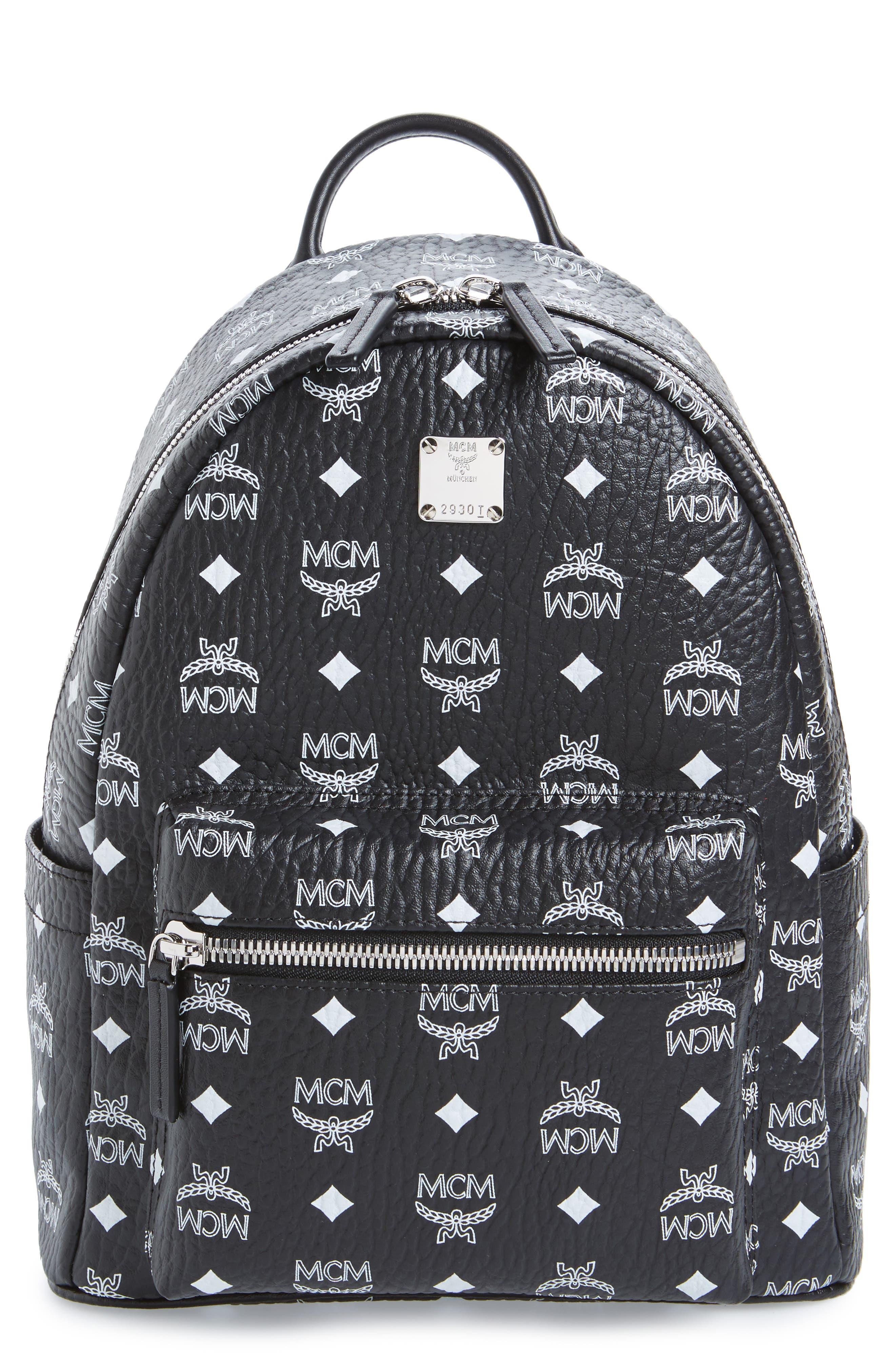Main Image - MCM Small Stark Monogram Print Canvas Backpack