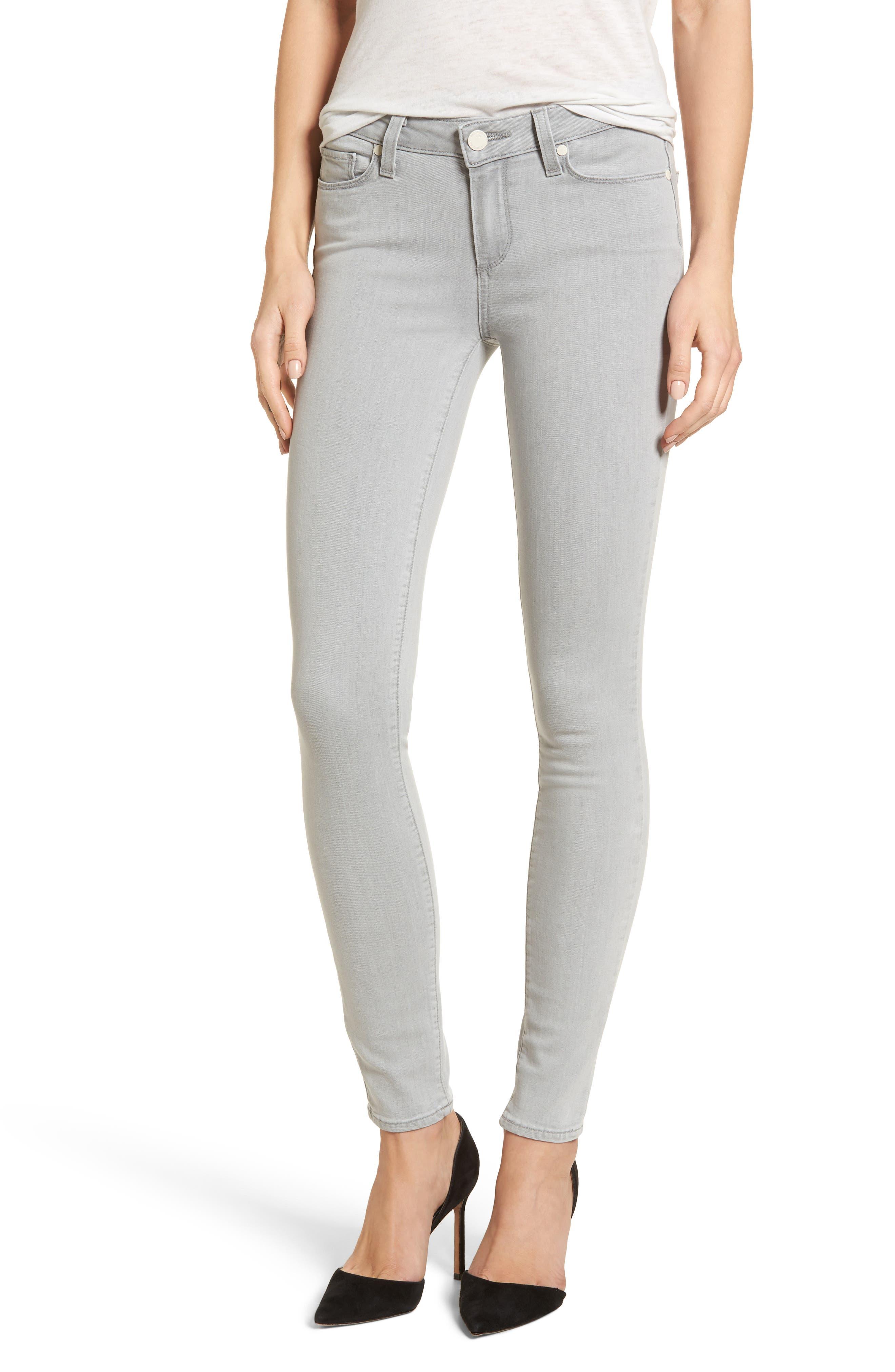 Transcend - Verdugo Ultra Skinny Jeans,                         Main,                         color, Whisper Grey