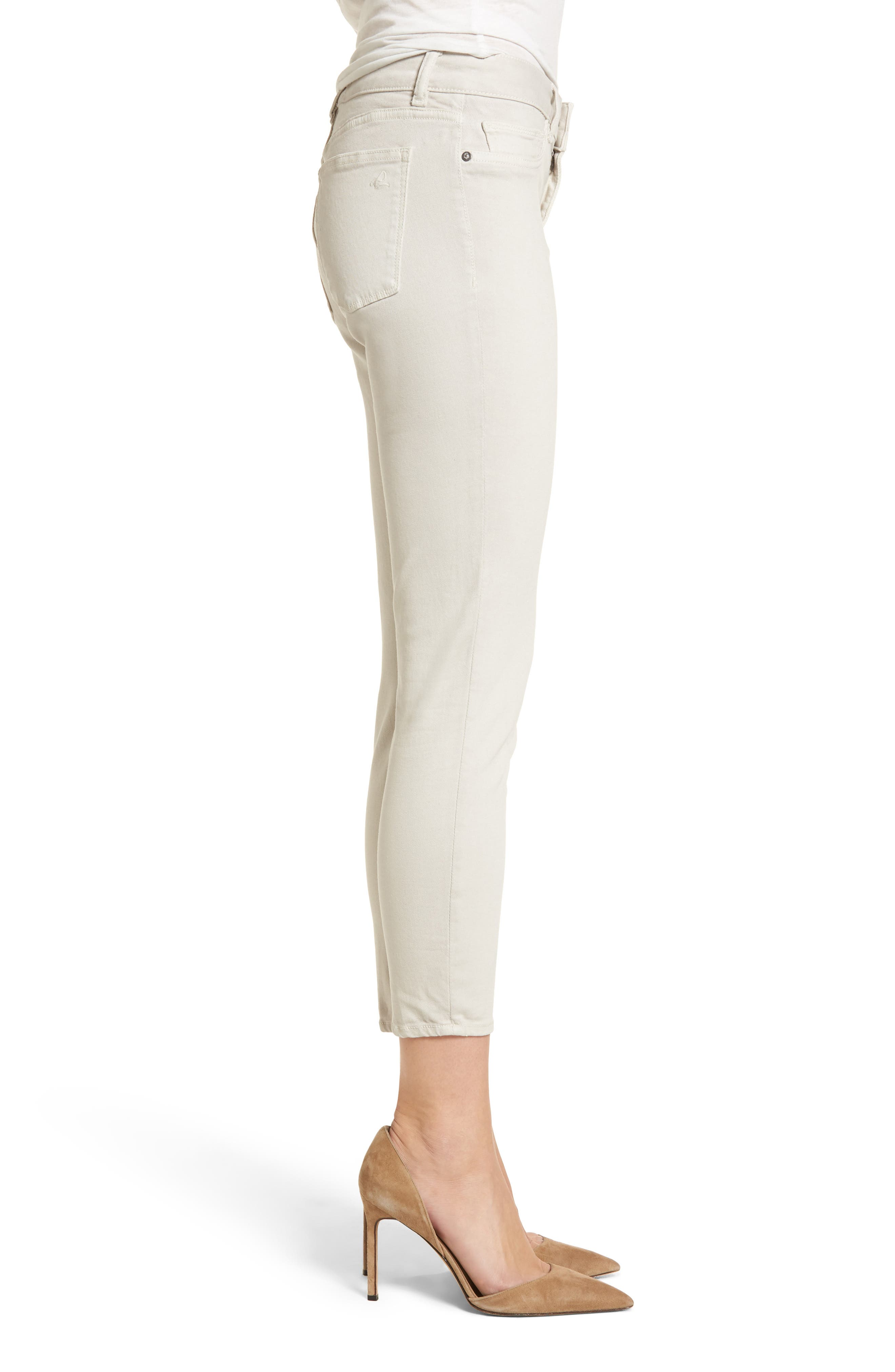 Florence Crop Skinny Jeans,                             Alternate thumbnail 3, color,                             Bone