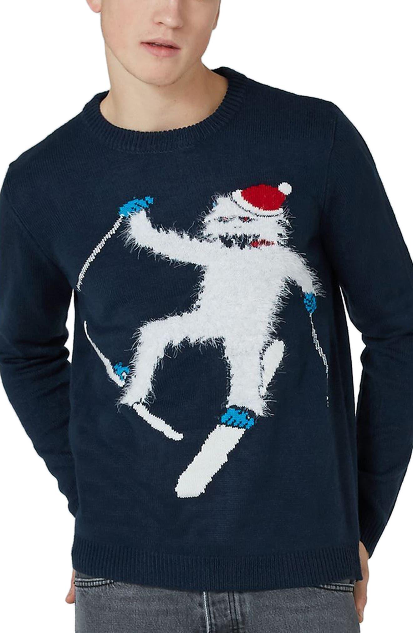 Topman Skiing Yeti Sweater