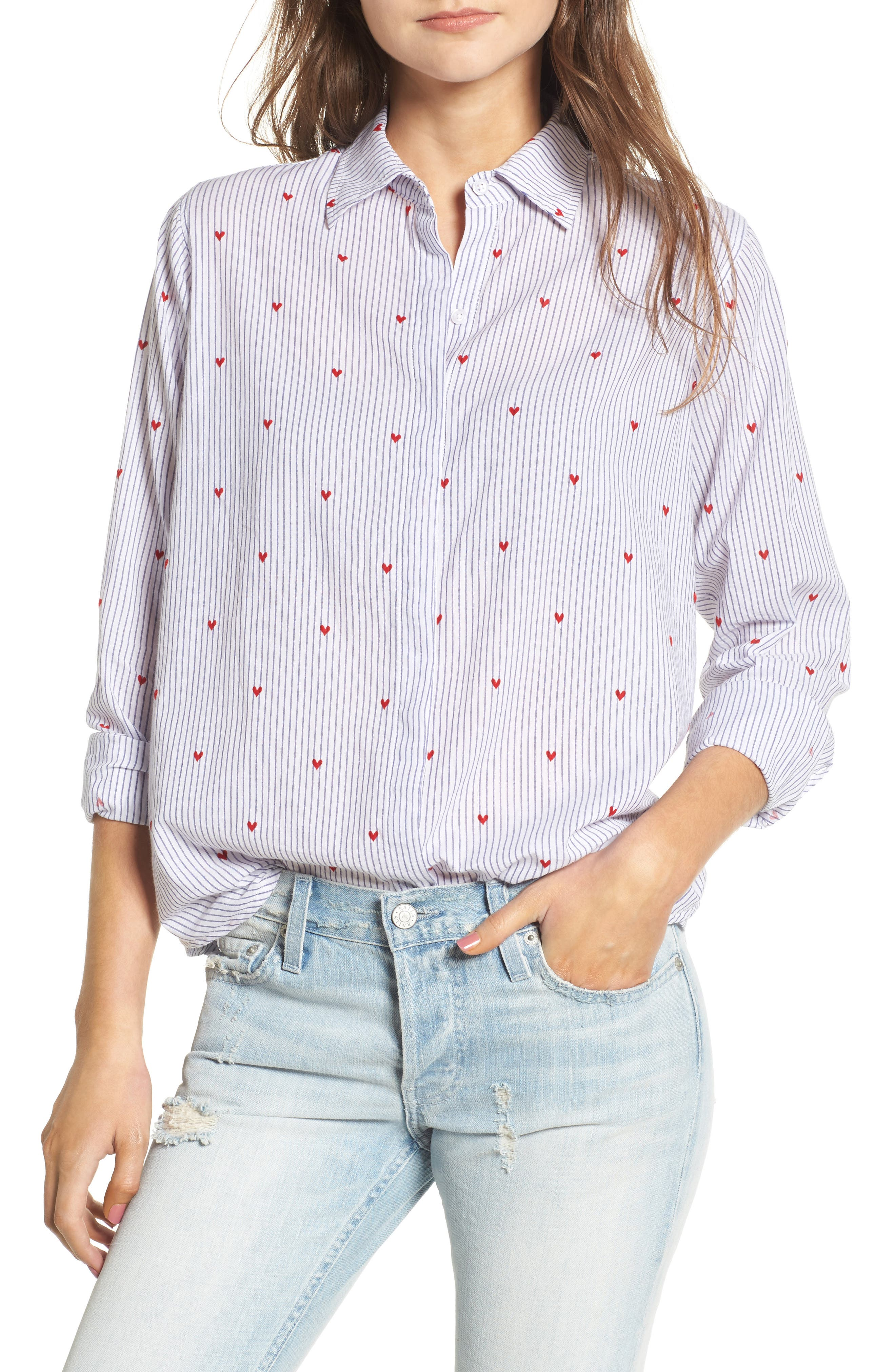 Main Image - Rails Taylor Heart Stripe Shirt