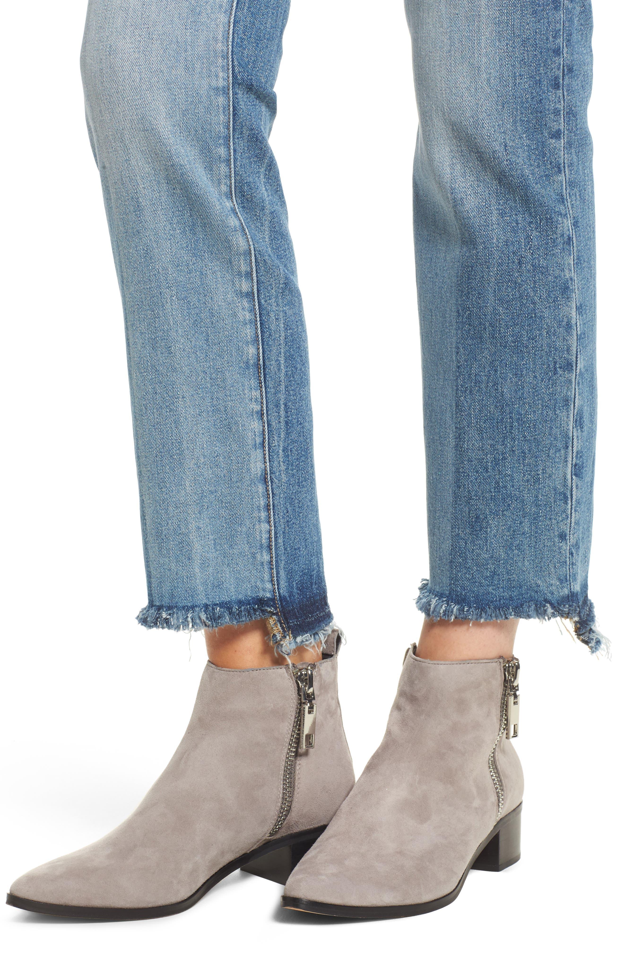 Mara Step Hem Ankle Jeans,                             Alternate thumbnail 4, color,                             Brookside