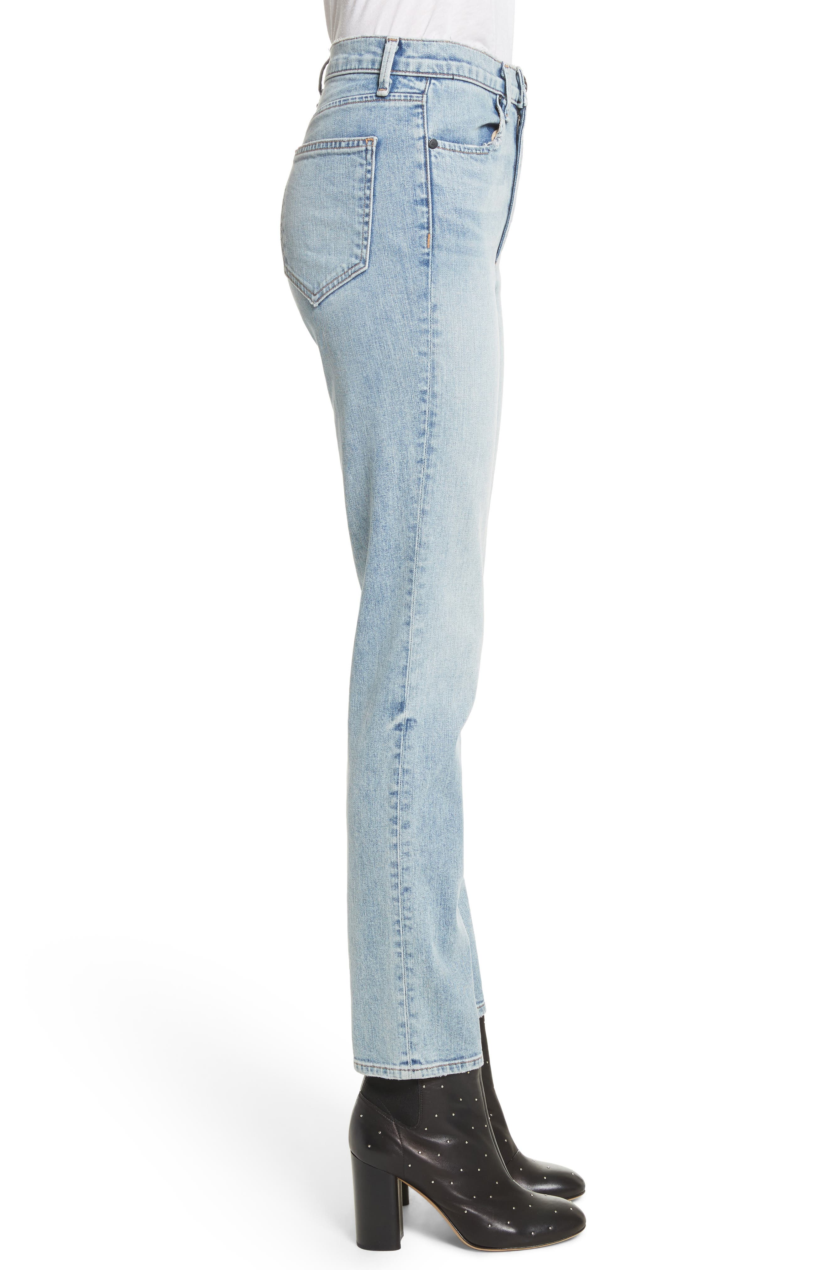Alternate Image 3  - rag & bone/JEAN Cigarette Leg Jeans (Double Down)