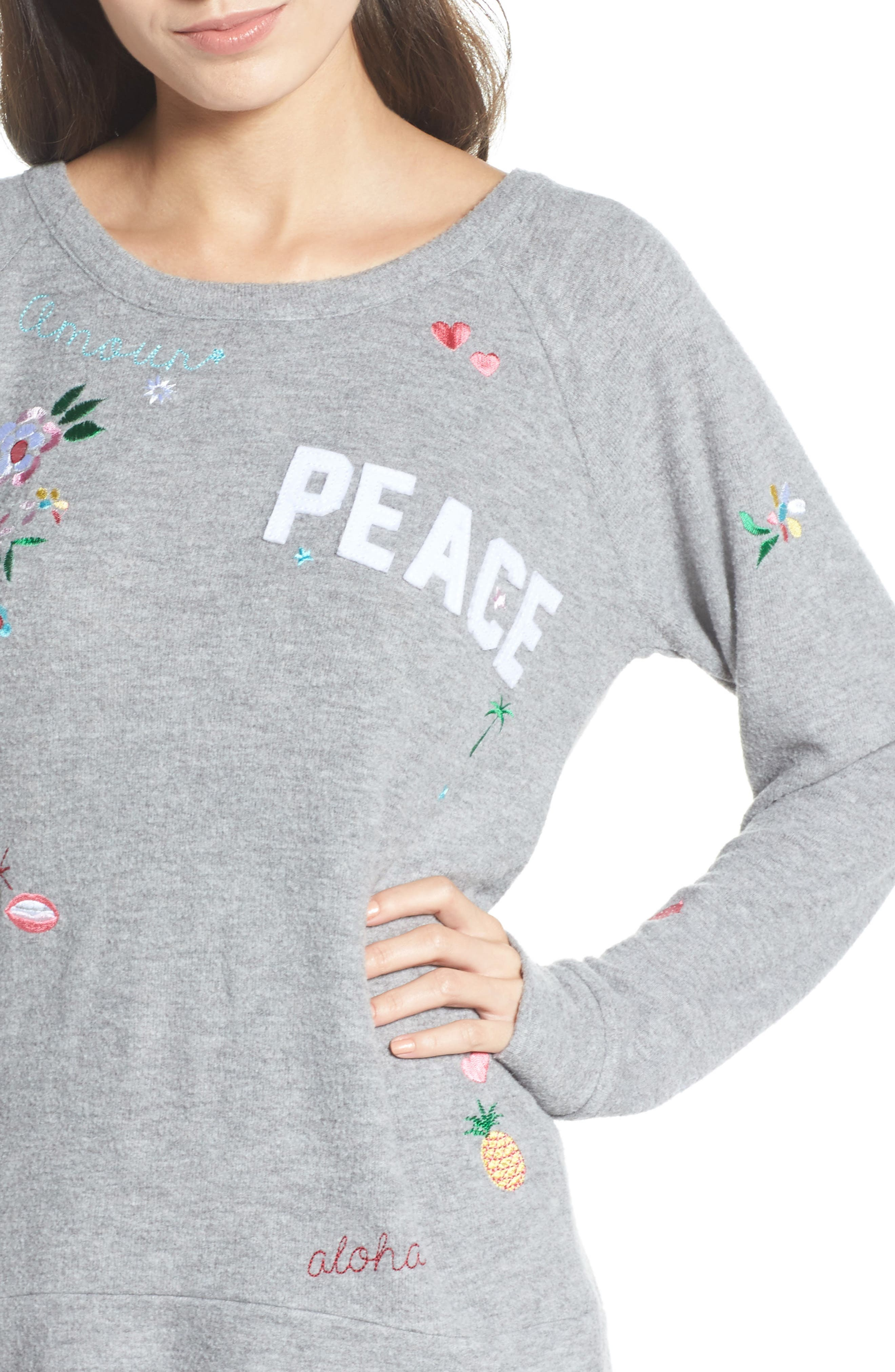 Patched Up Sweatshirt,                             Alternate thumbnail 4, color,                             Heather Grey