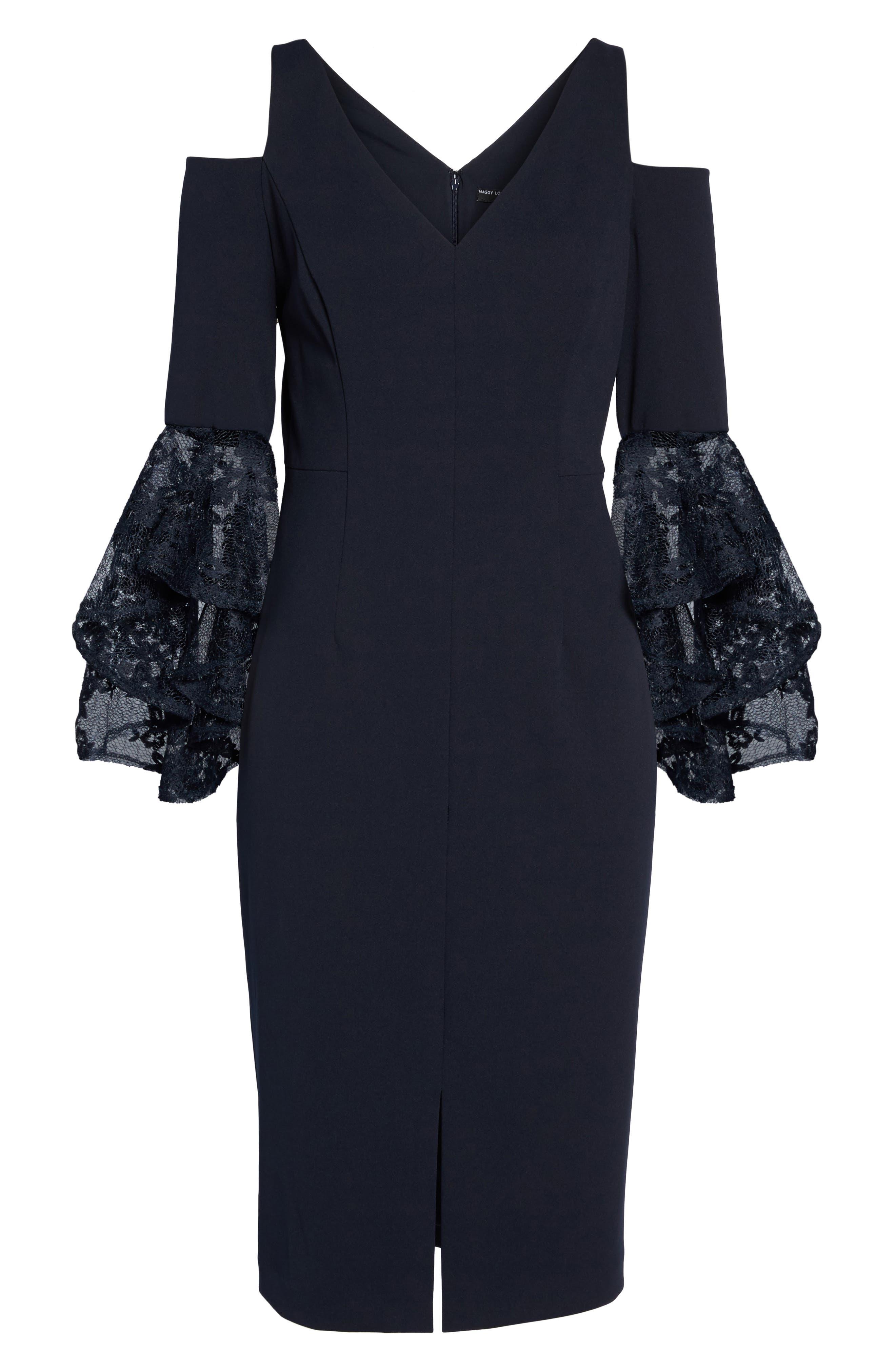 Alternate Image 6  - Maggy London Cold Shoulder Sheath Dress