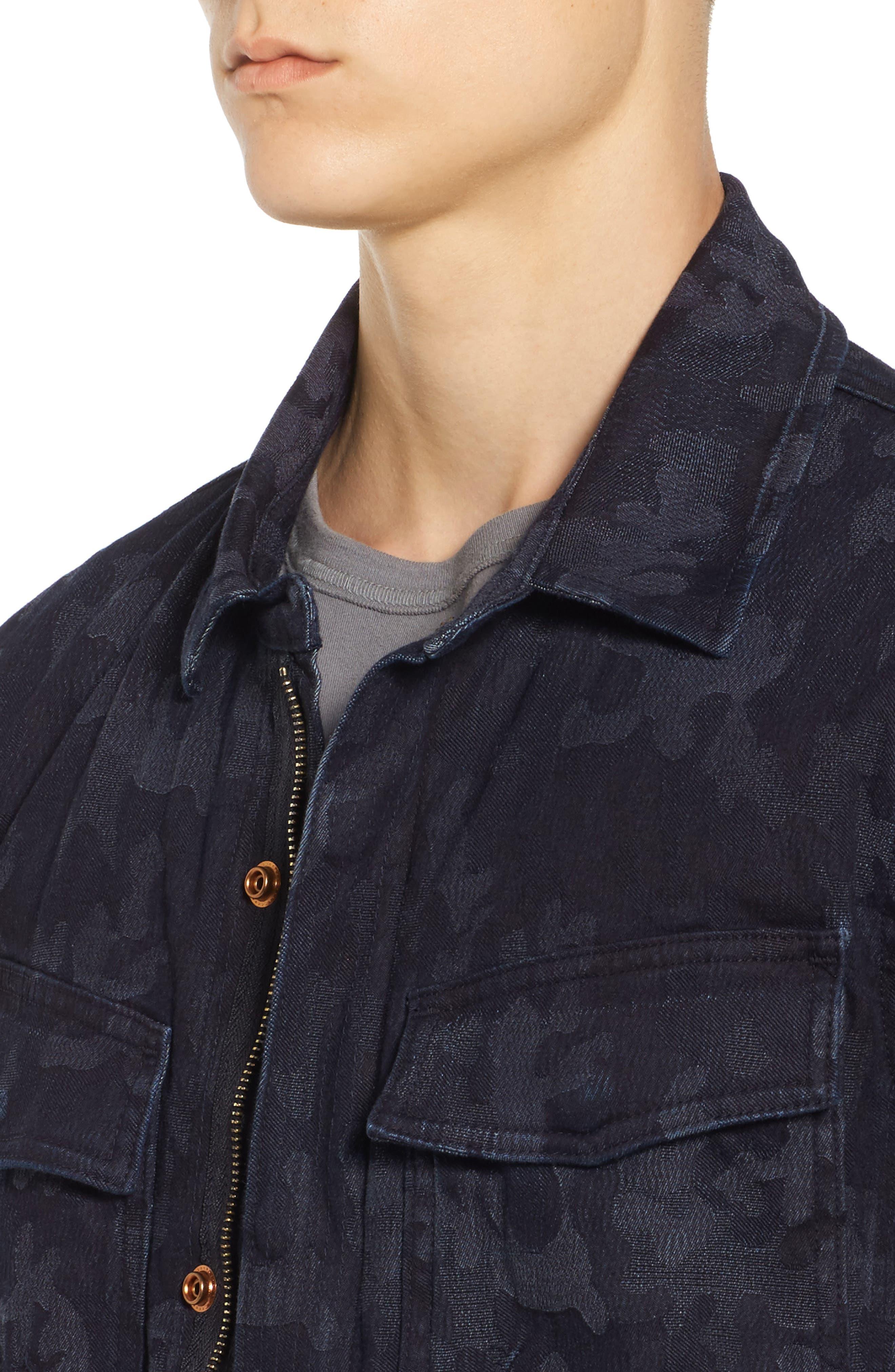Camo Field Jacket,                             Alternate thumbnail 4, color,                             Indigo Camo