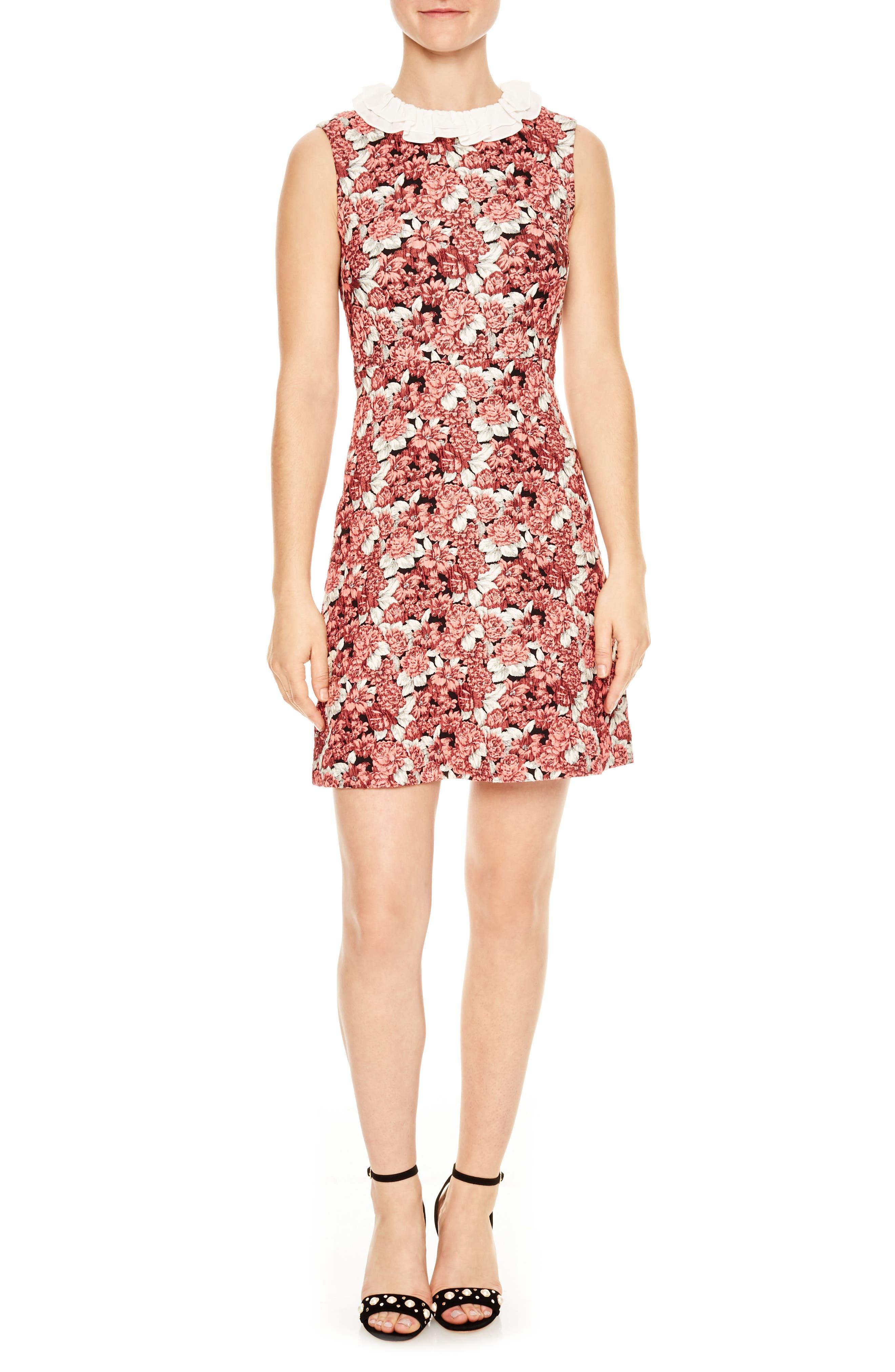 Edwige Floral Print Sheath Dress,                             Main thumbnail 1, color,                             Pink