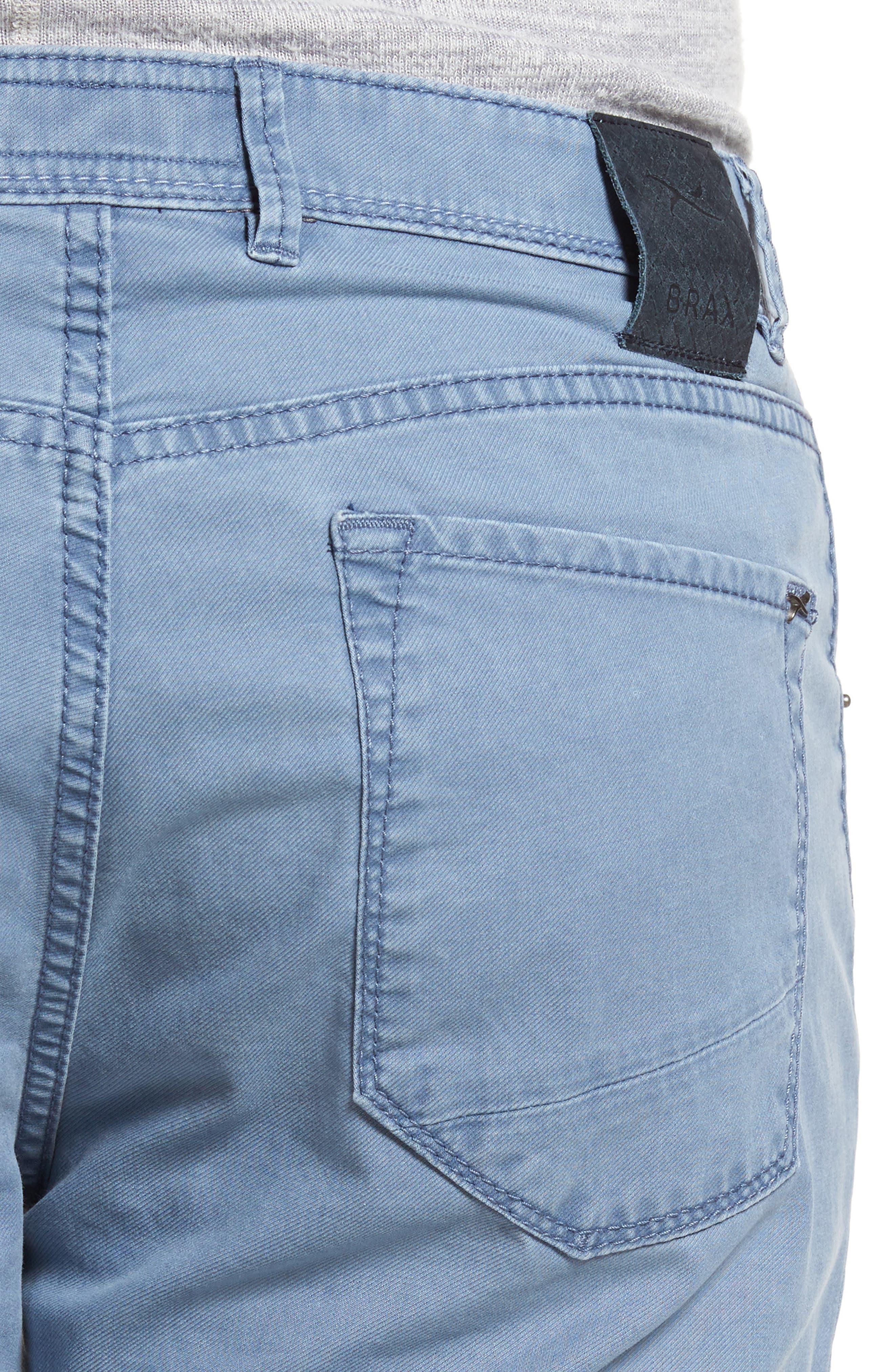 Chuck Flat Front Stretch Cotton Pants,                             Alternate thumbnail 4, color,                             Sky Blue