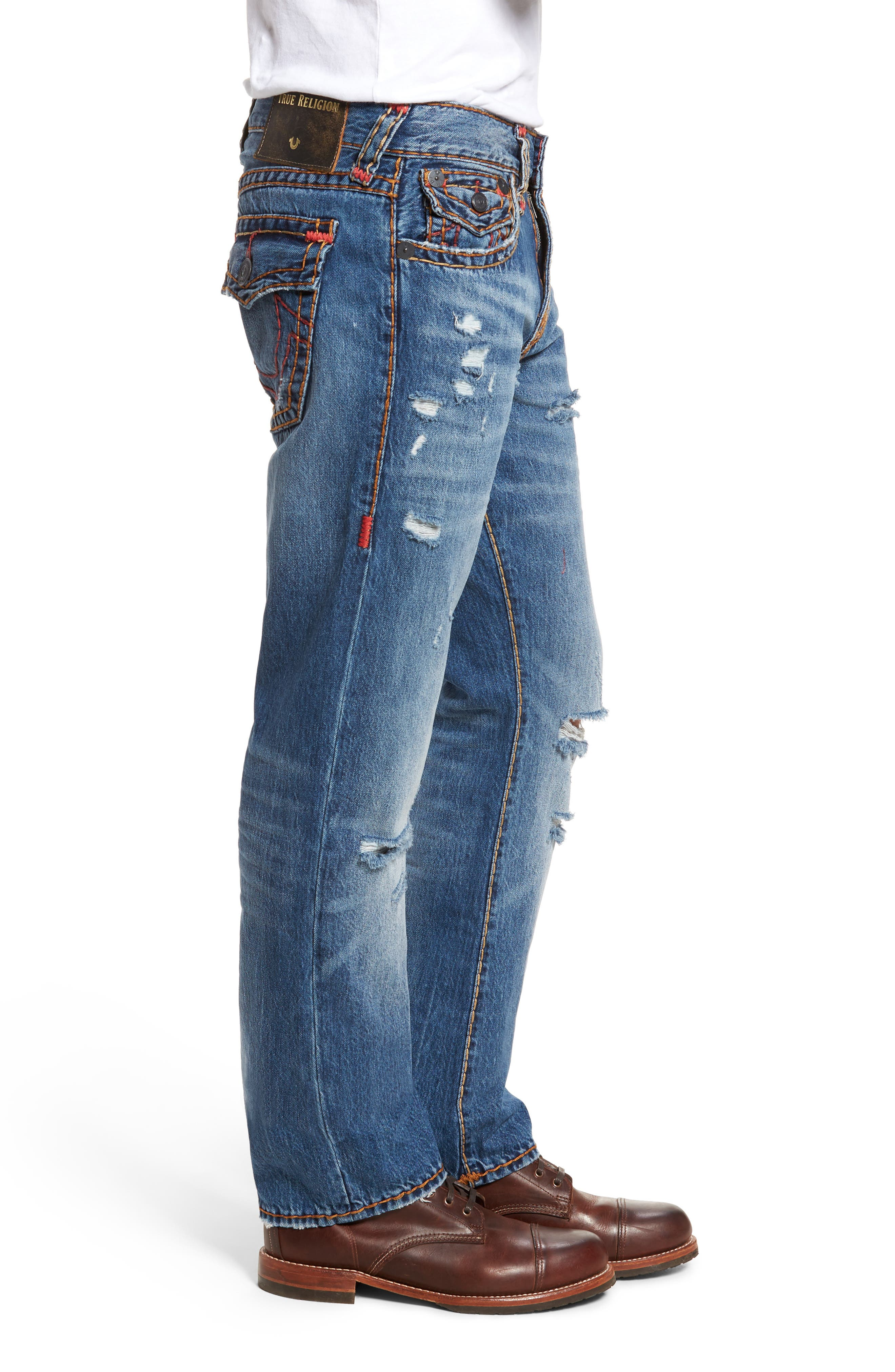 Alternate Image 3  - True Religion Brand Jeans Ricky Relaxed Fit Jeans (Worn Ever Fade)