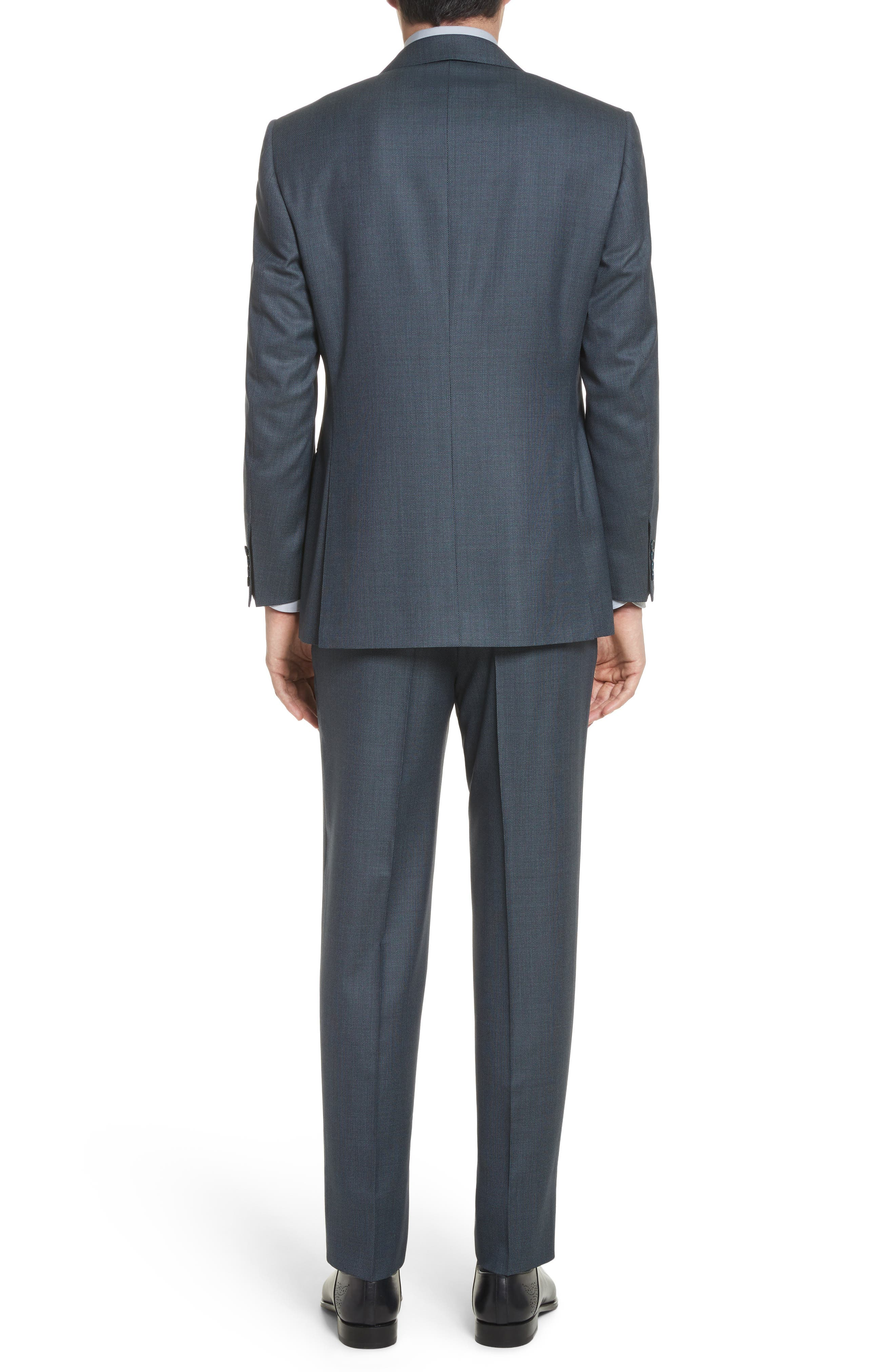 Classic Fit Solid Wool Suit,                             Alternate thumbnail 2, color,                             Navy