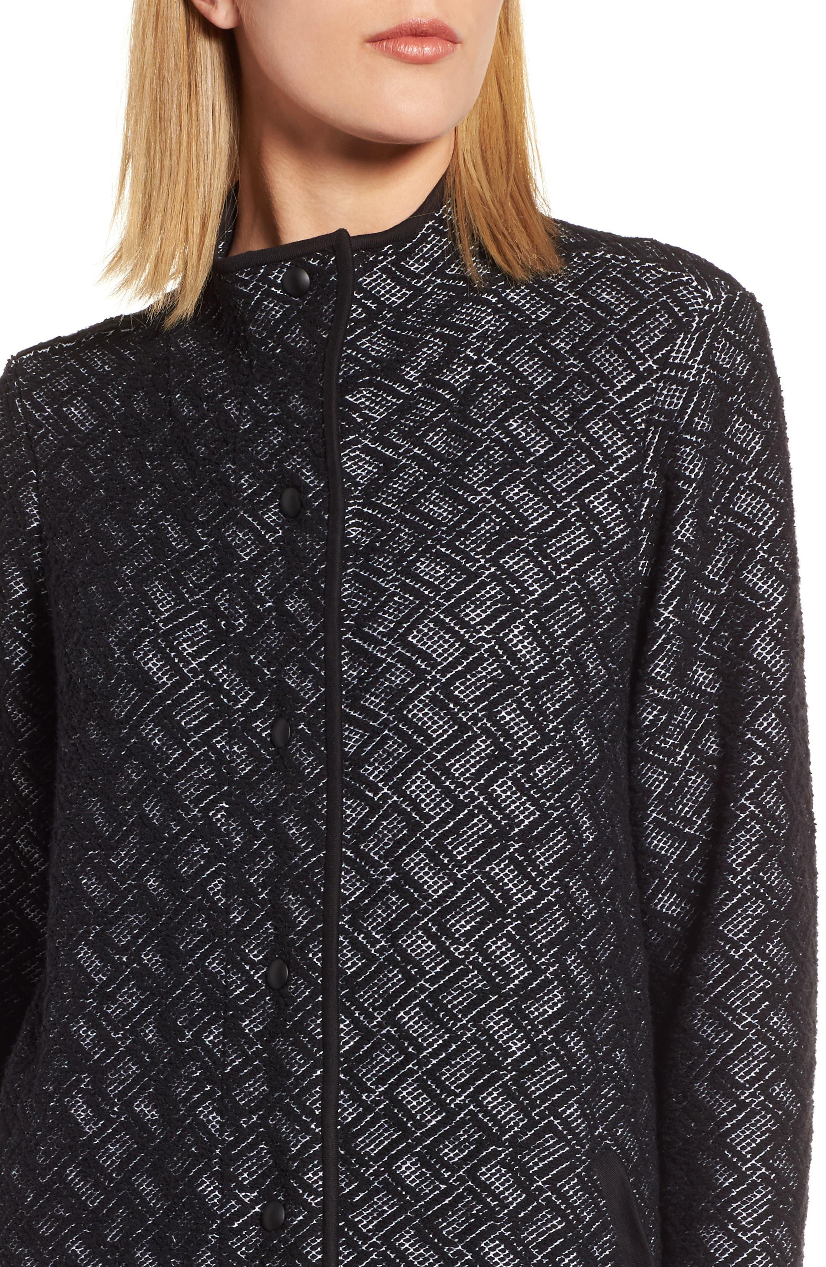 Alternate Image 4  - Eileen Fisher Funnel Neck Jacket