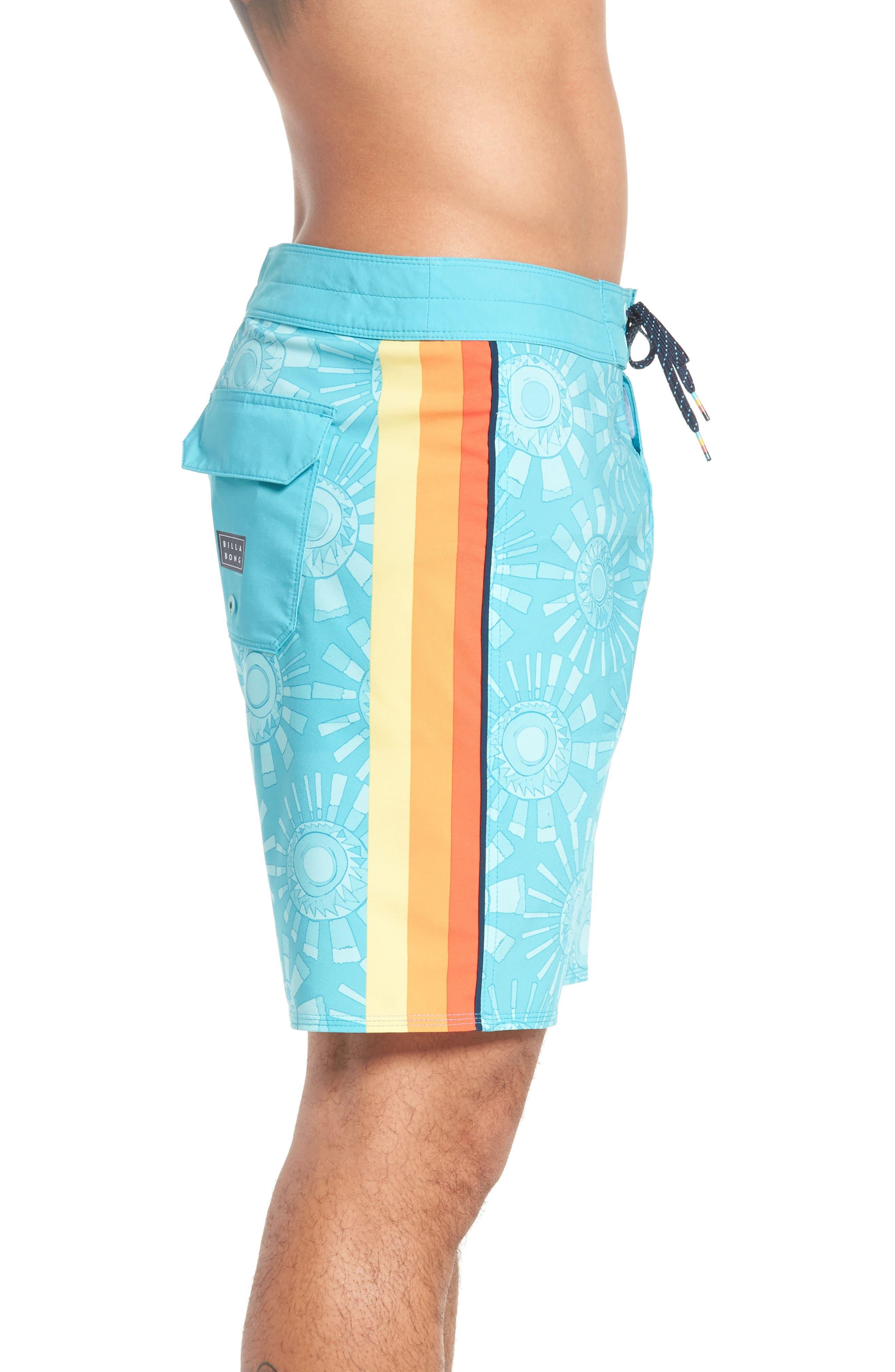 D Bah Airlite Board Shorts,                             Alternate thumbnail 3, color,                             Mint