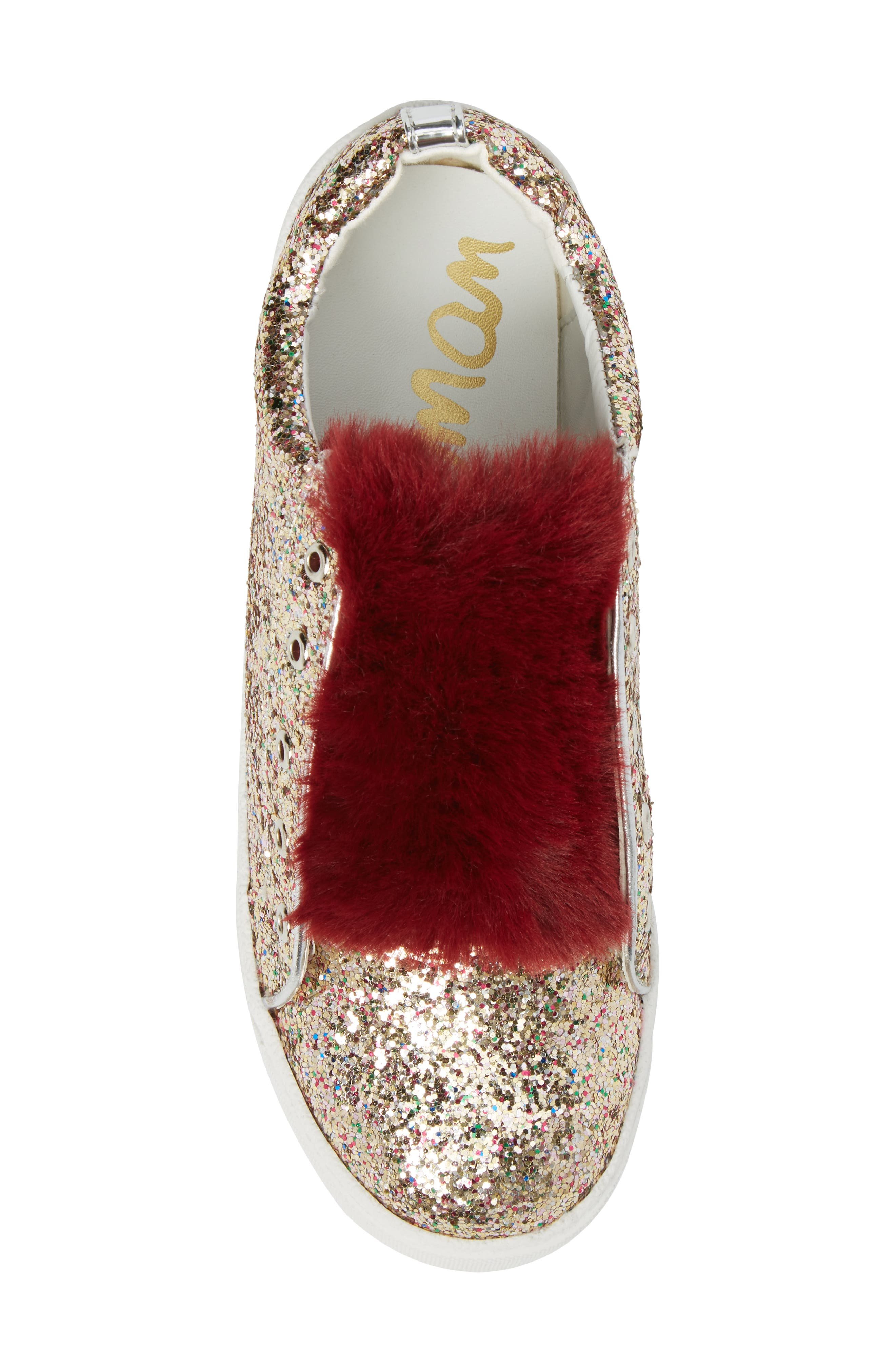 Alternate Image 5  - Sam Edelman Britt Rita Faux Fur Glitter Sneaker (Toddler, Little Kid & Big Kid)