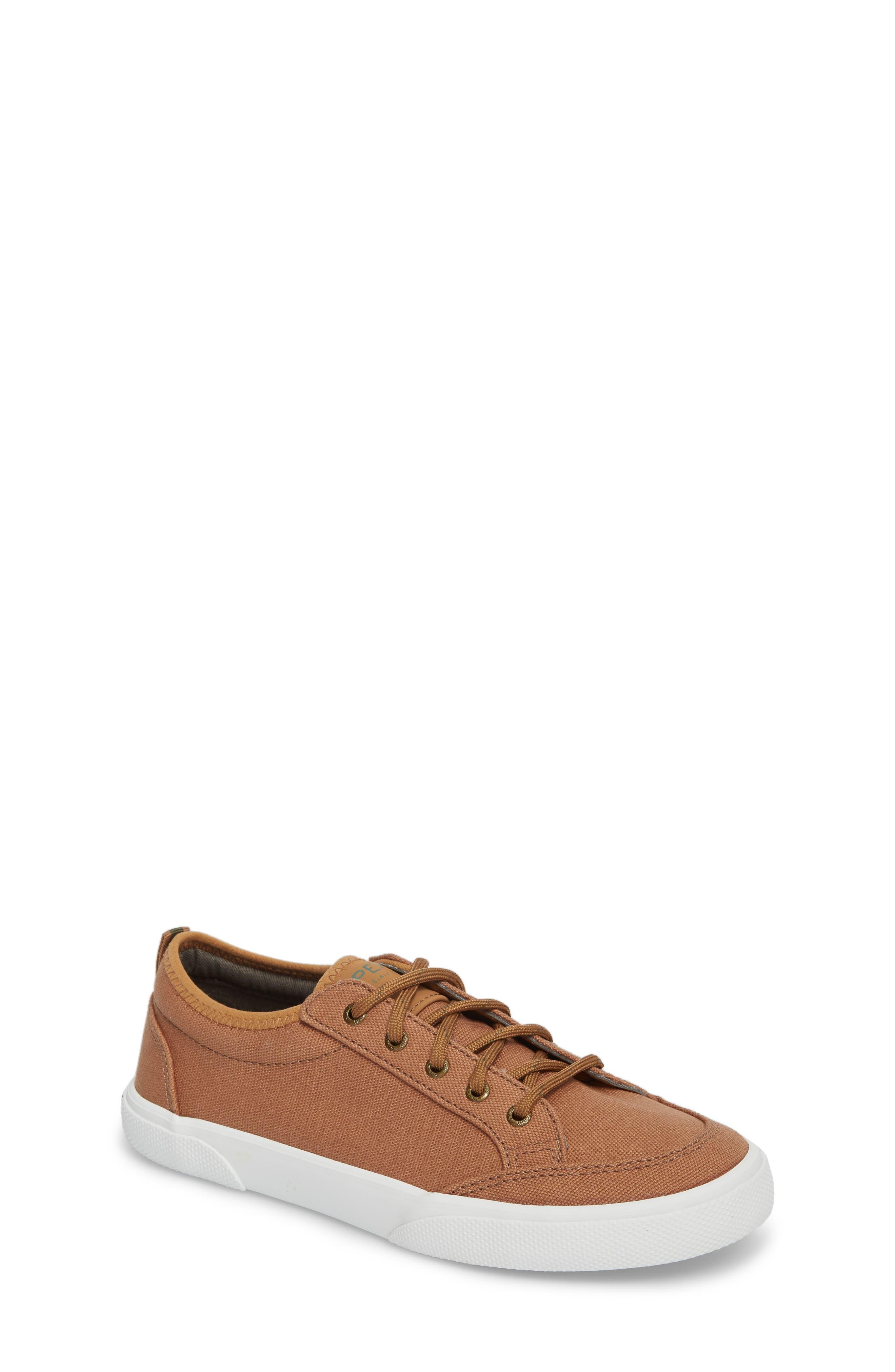Sperry Deckfin Sneaker,                         Main,                         color, Caramel