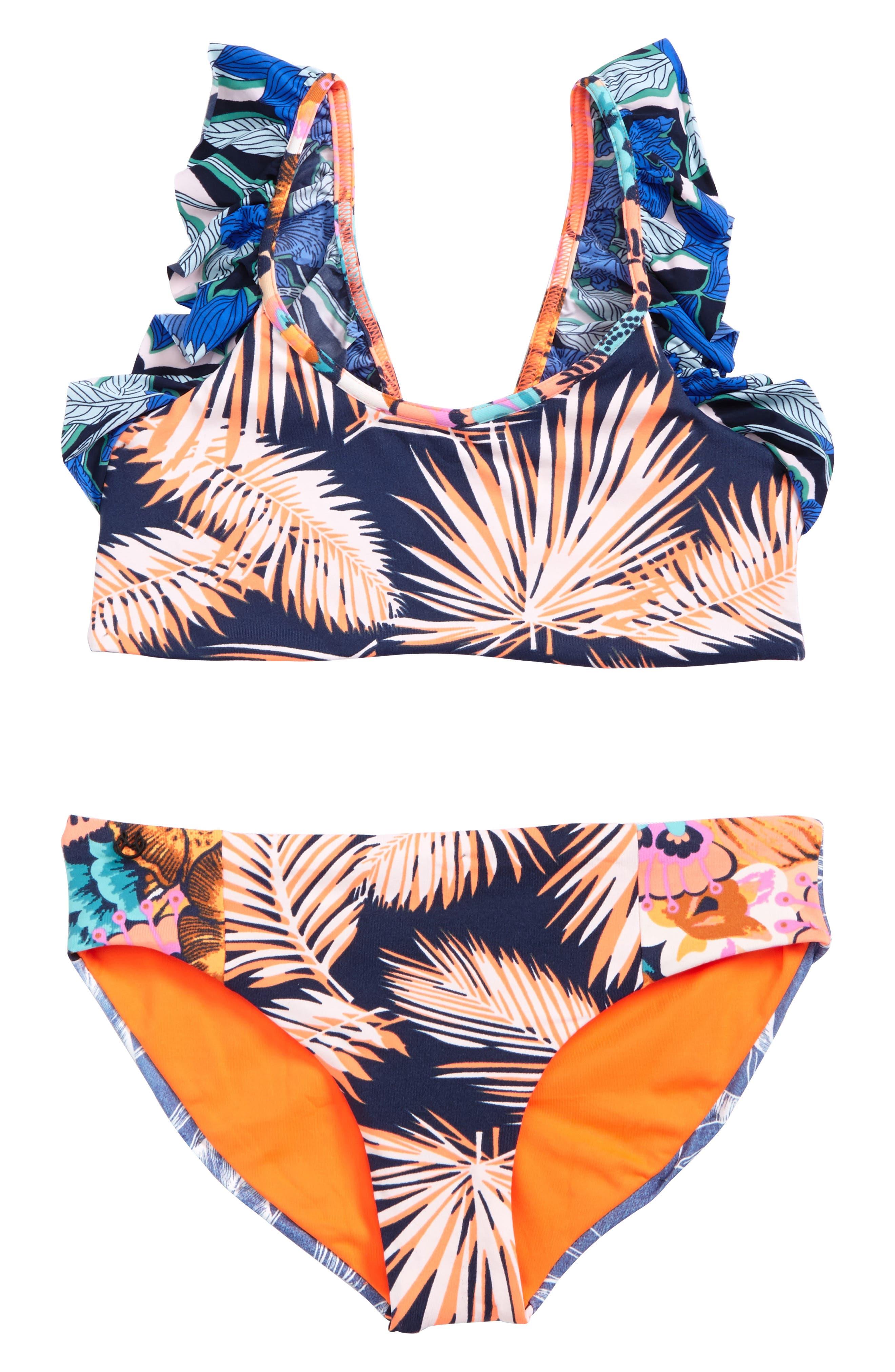 Main Image - Maaji Seaside Palenque Two-Piece Swimsuit (Big Girls)