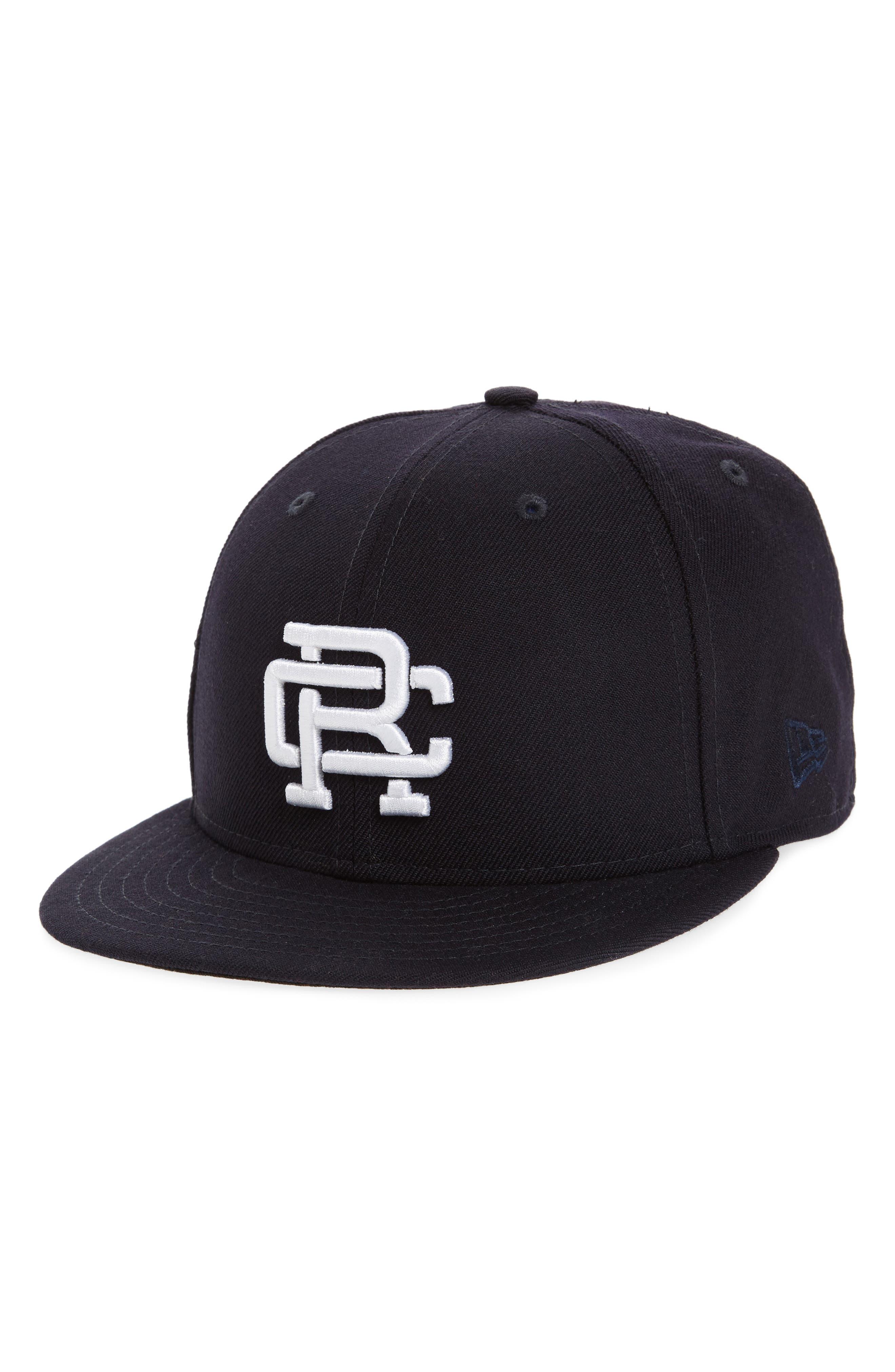 New Era Fitted Baseball Cap,                             Main thumbnail 1, color,                             Navy