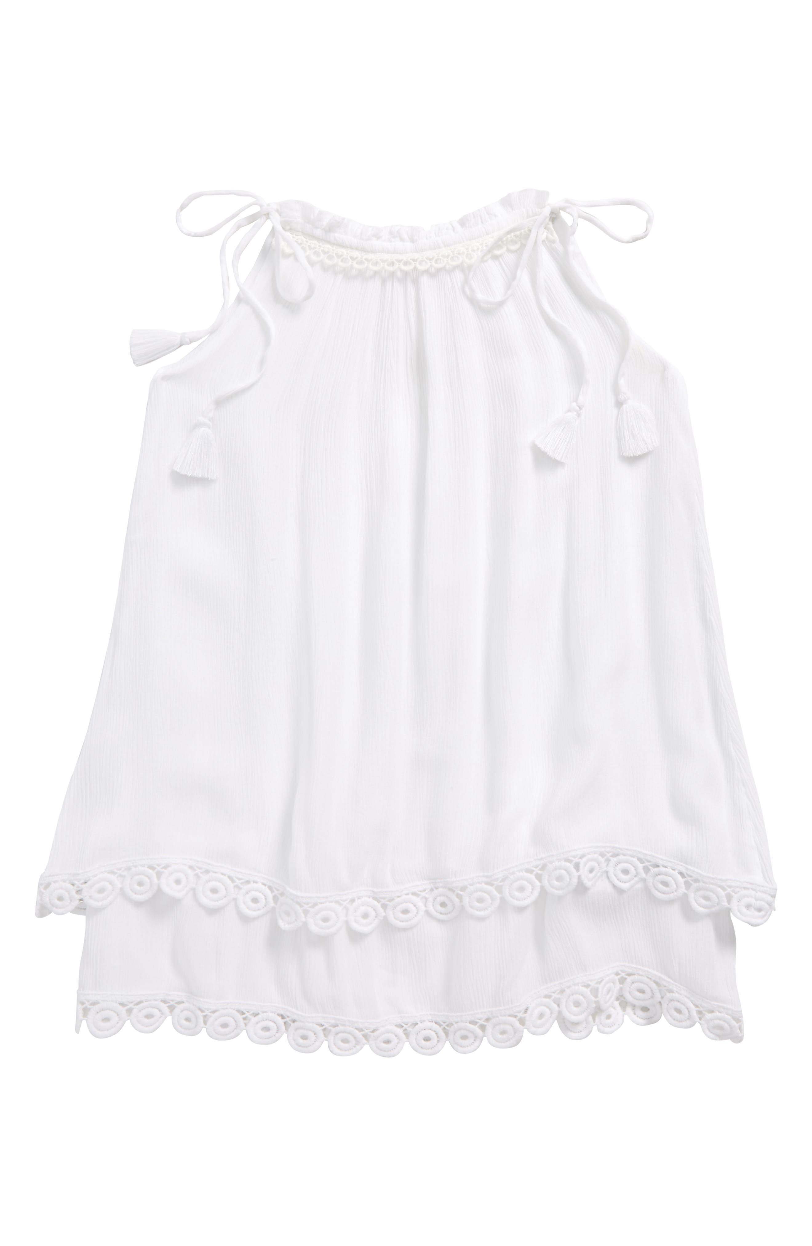 Cover-Up Dress,                             Main thumbnail 1, color,                             White