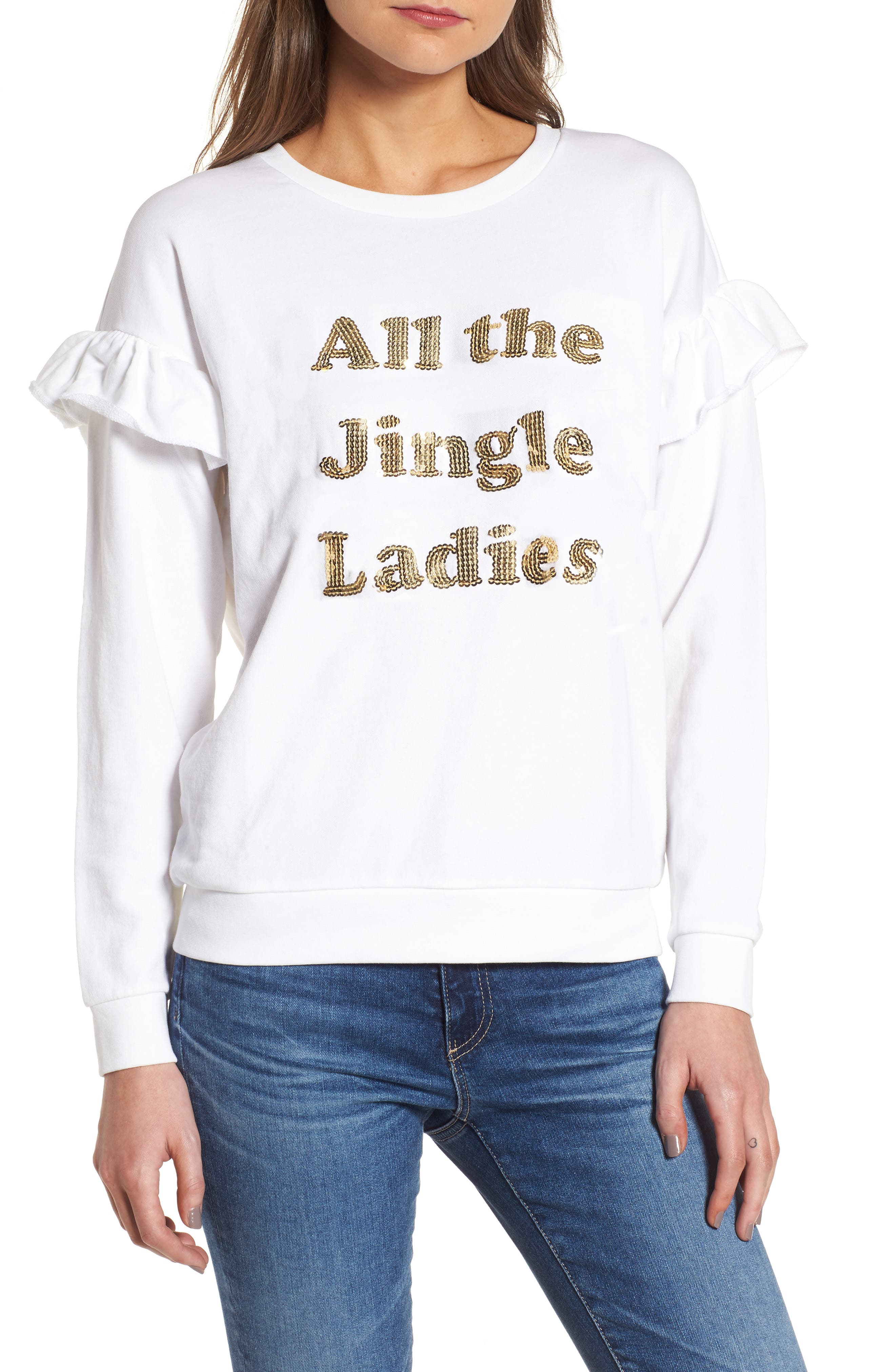 Main Image - South Parade All the Jingle Ladies Sweatshirt