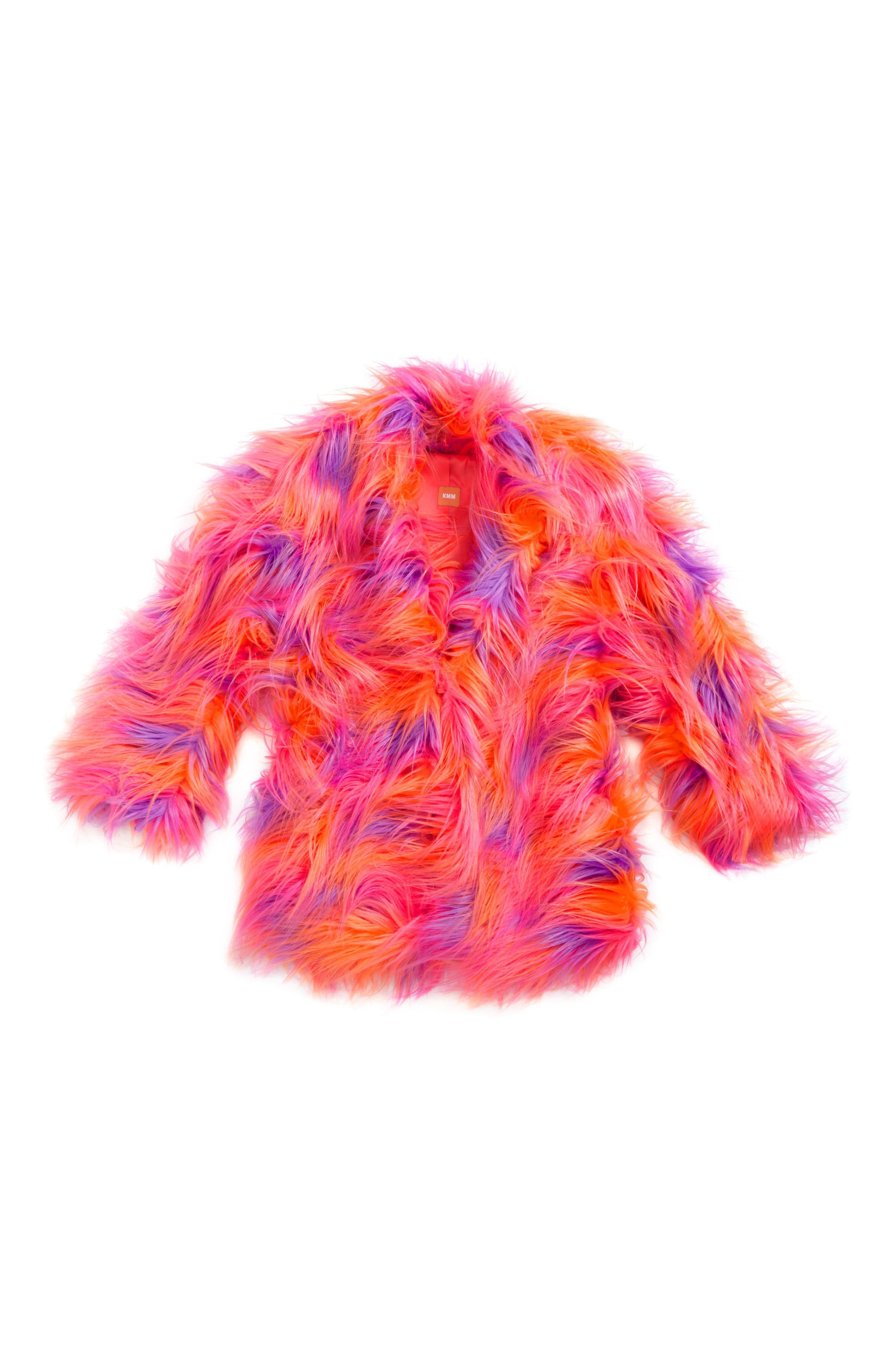 Main Image - Kid Made Modern Faux Fur Coat (Little Girls & Big Girls)