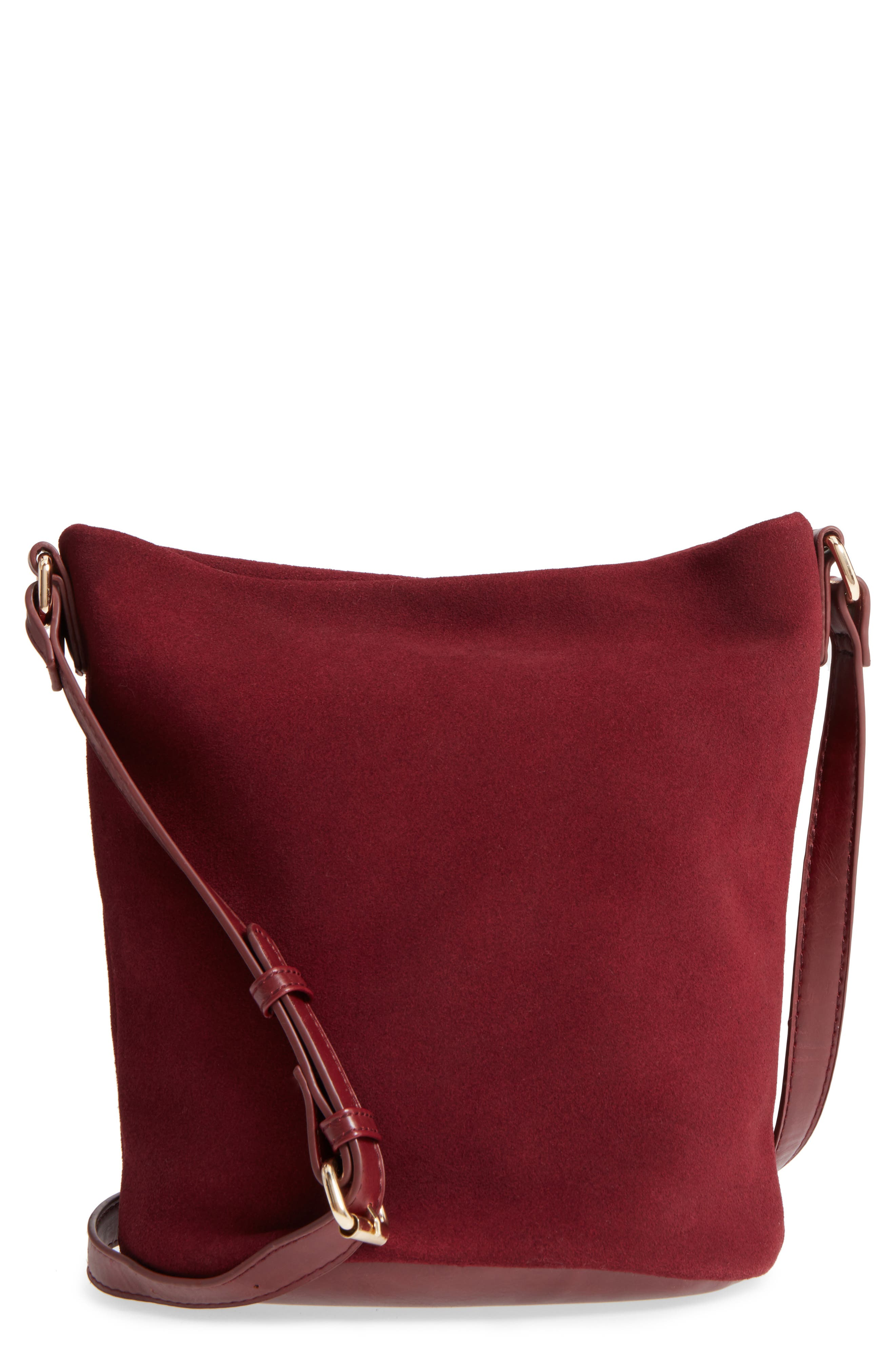 Alternate Image 1 Selected - Sole Society Lana Slouchy Suede Crossbody Bag