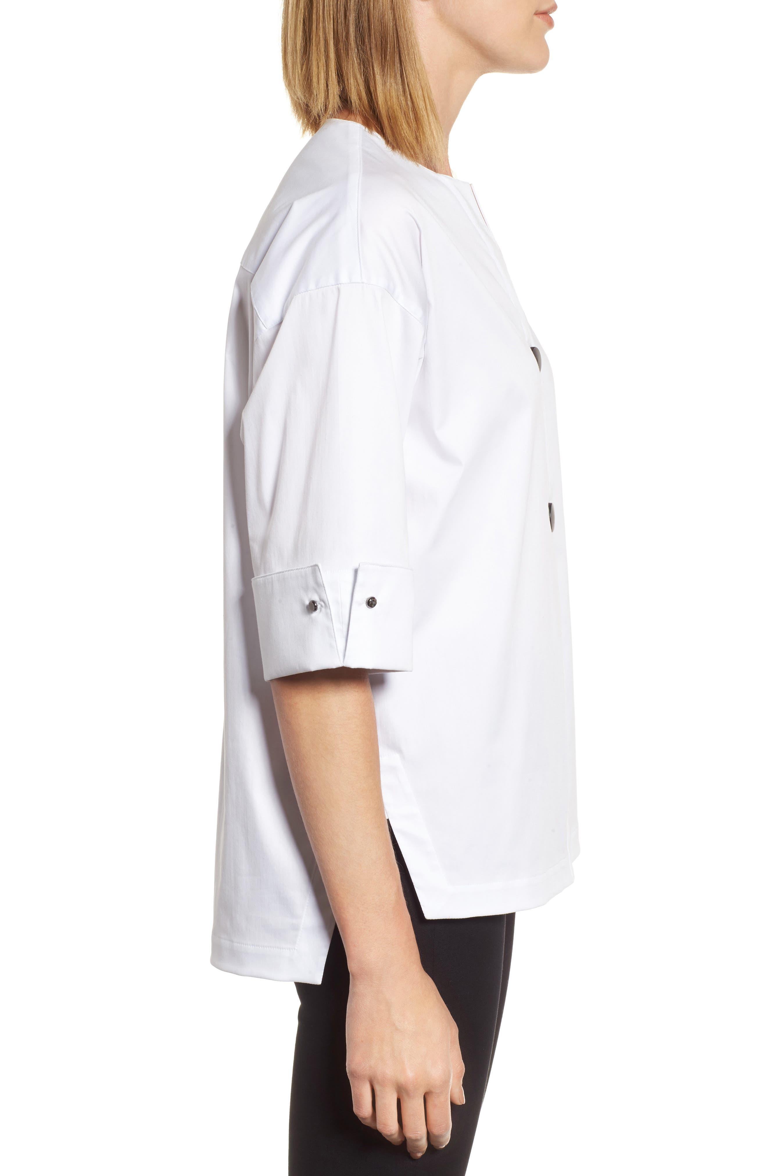 Woven Shirt Jacket,                             Alternate thumbnail 3, color,                             White