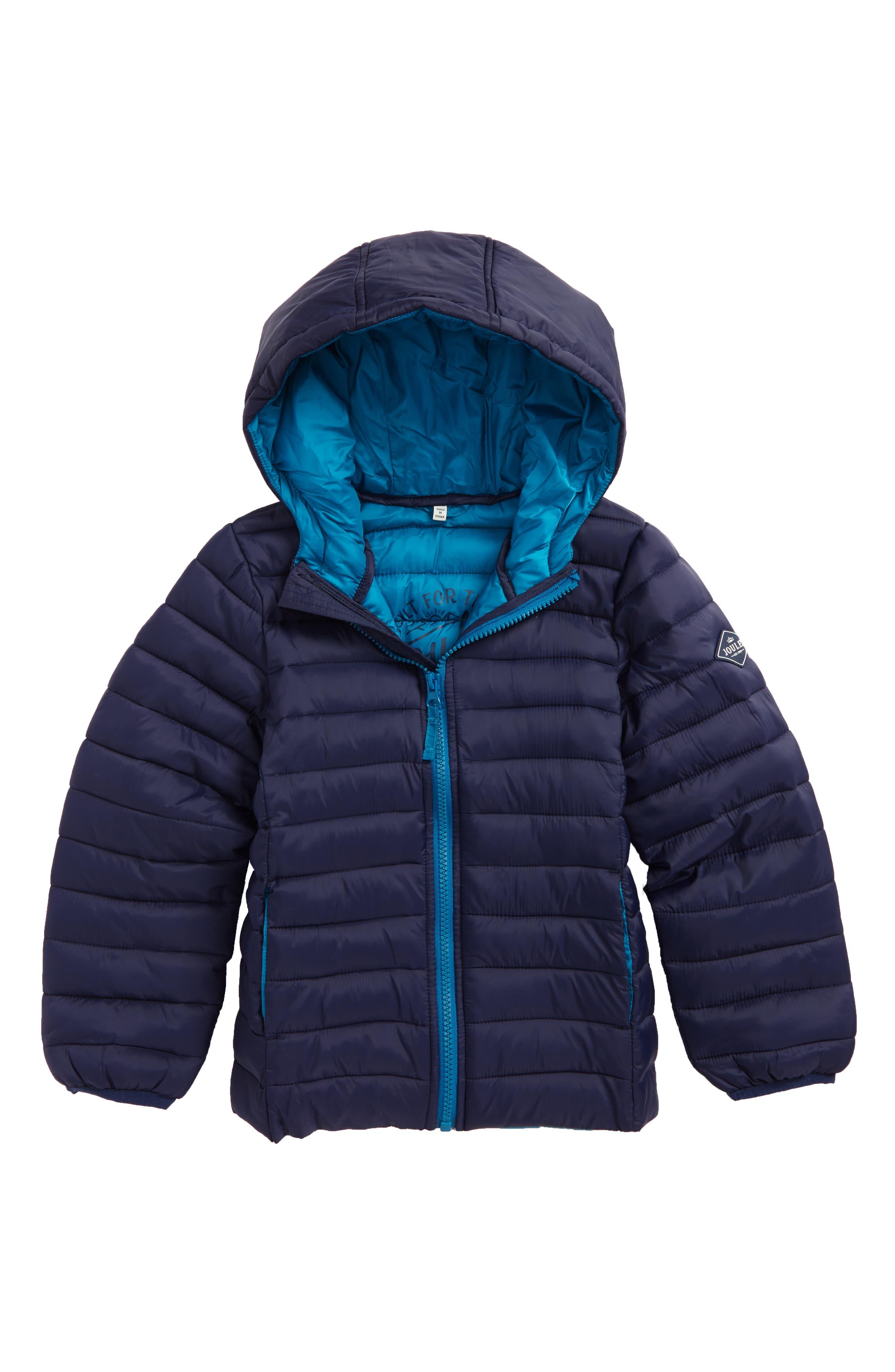 Joules Packaway Hooded Jacket (Toddler Boys, Little Boys & Big Boys)