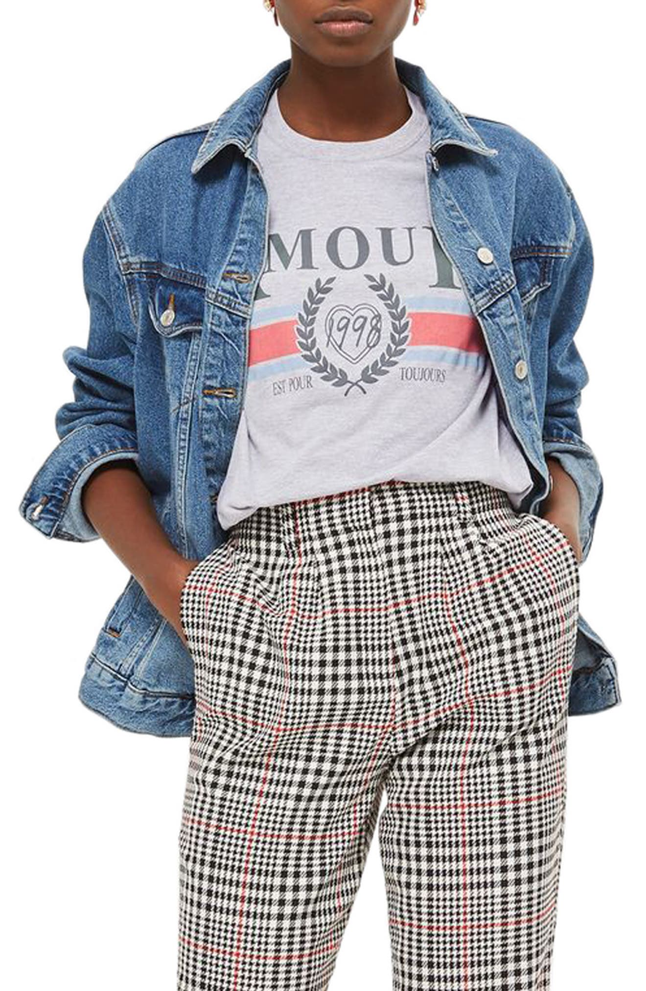 Amour Graphic Tee,                             Alternate thumbnail 3, color,                             Grey Multi