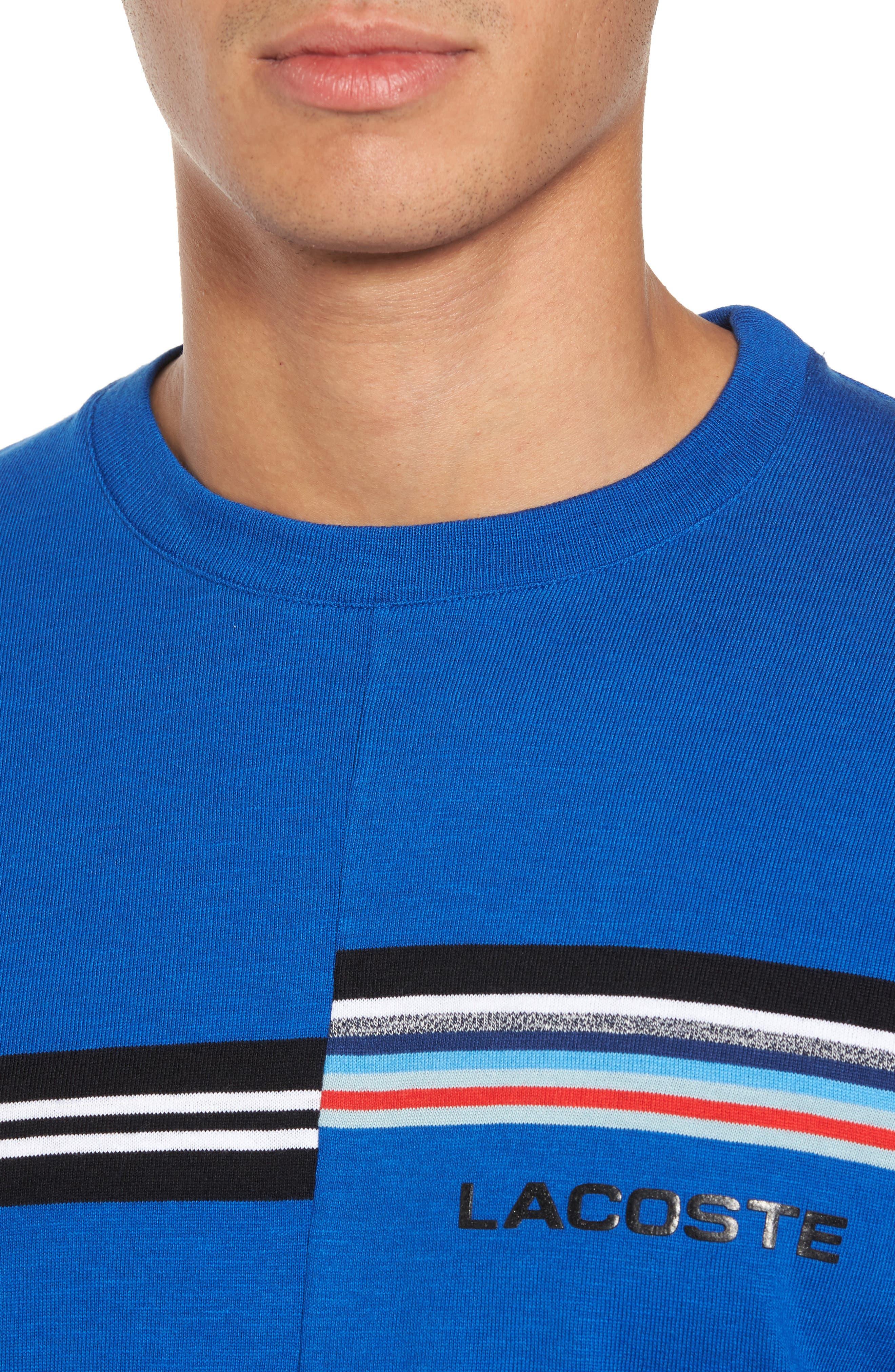 Mouline T-Shirt,                             Alternate thumbnail 4, color,                             Qzp Royal/ Multico