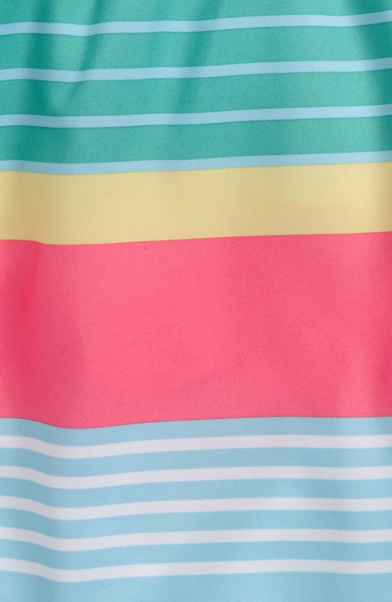 Chappy Boca Bay Stripe Swim Trunks,                             Alternate thumbnail 3, color,                             Sea Splash