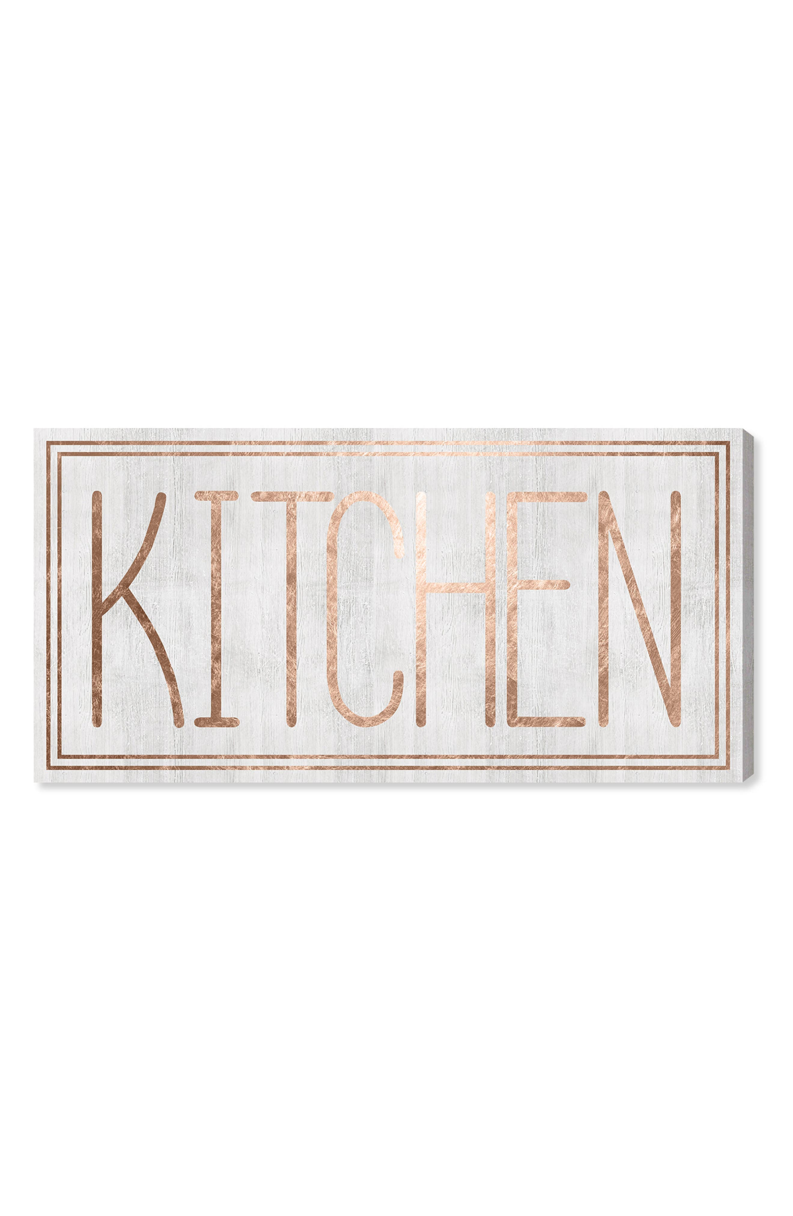 Kitchen Canvas Wall Art,                         Main,                         color, White
