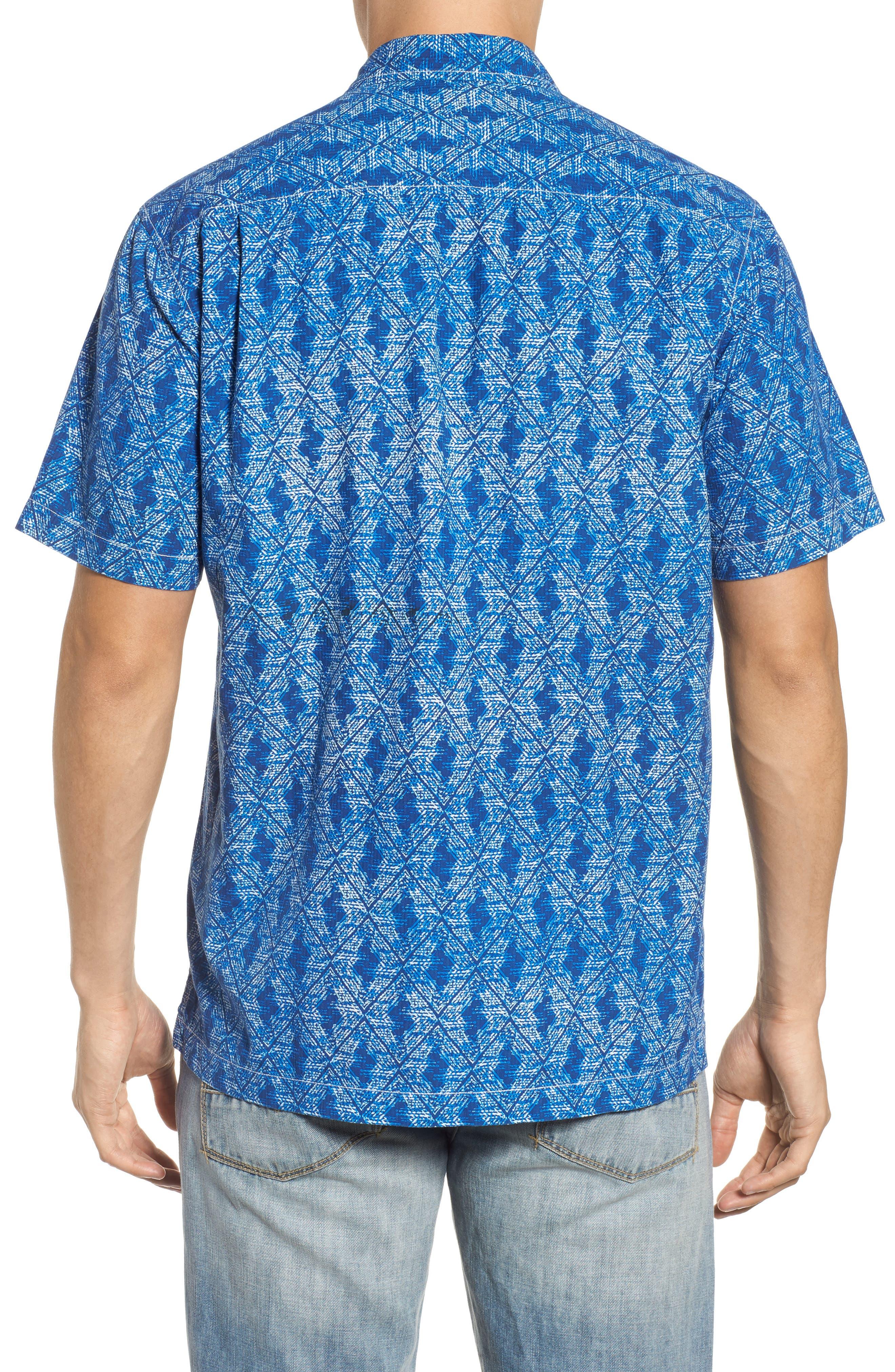Alternate Image 2  - Tommy Bahama Del Ray Diamond Sport Shirt