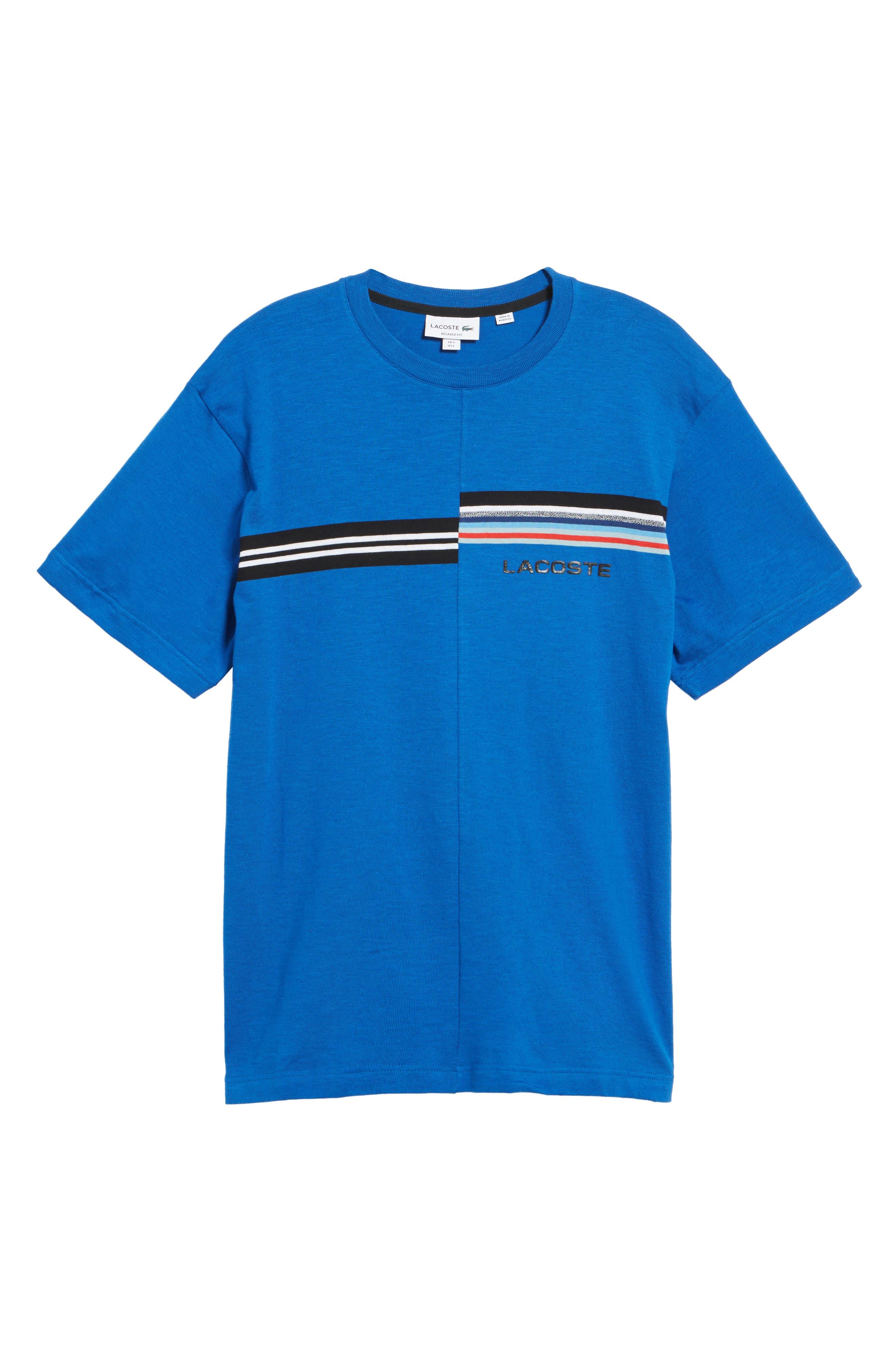 Mouline T-Shirt,                             Alternate thumbnail 6, color,                             Qzp Royal/ Multico