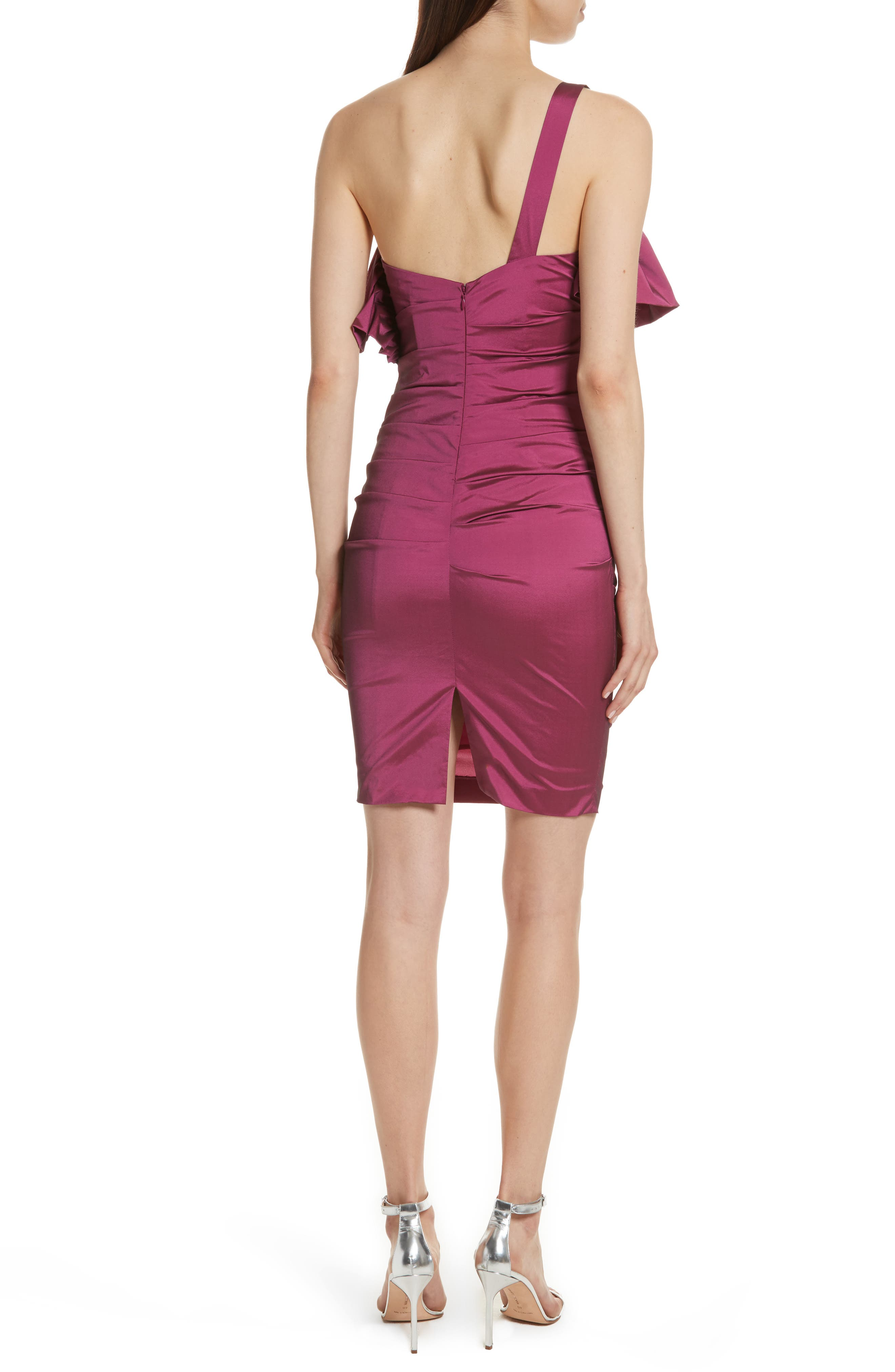 Frilled Column Dress,                             Alternate thumbnail 2, color,                             Vixen