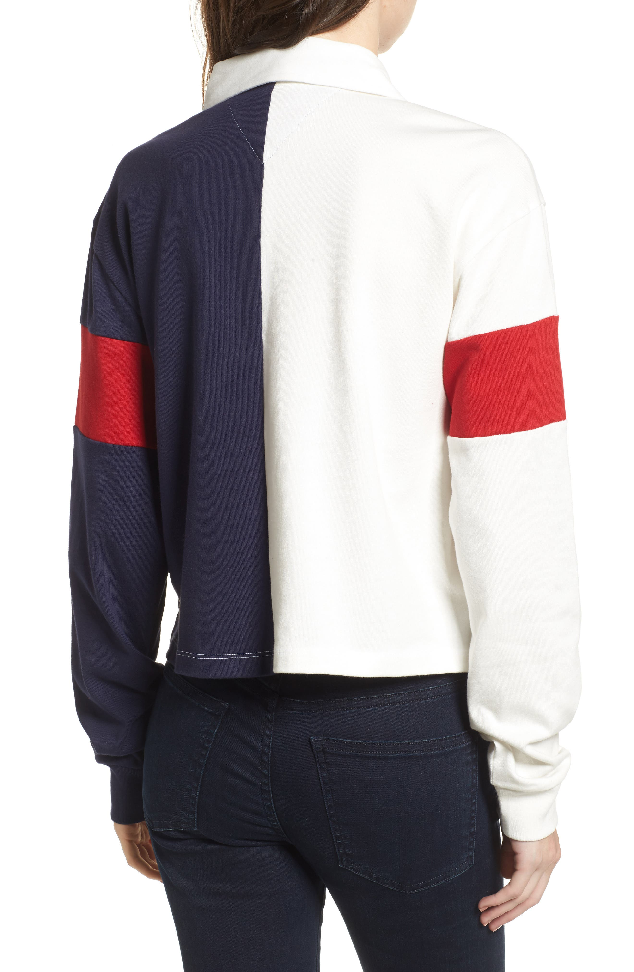 Alternate Image 2  - TOMMY JEANS '90s Crop Rugby Top
