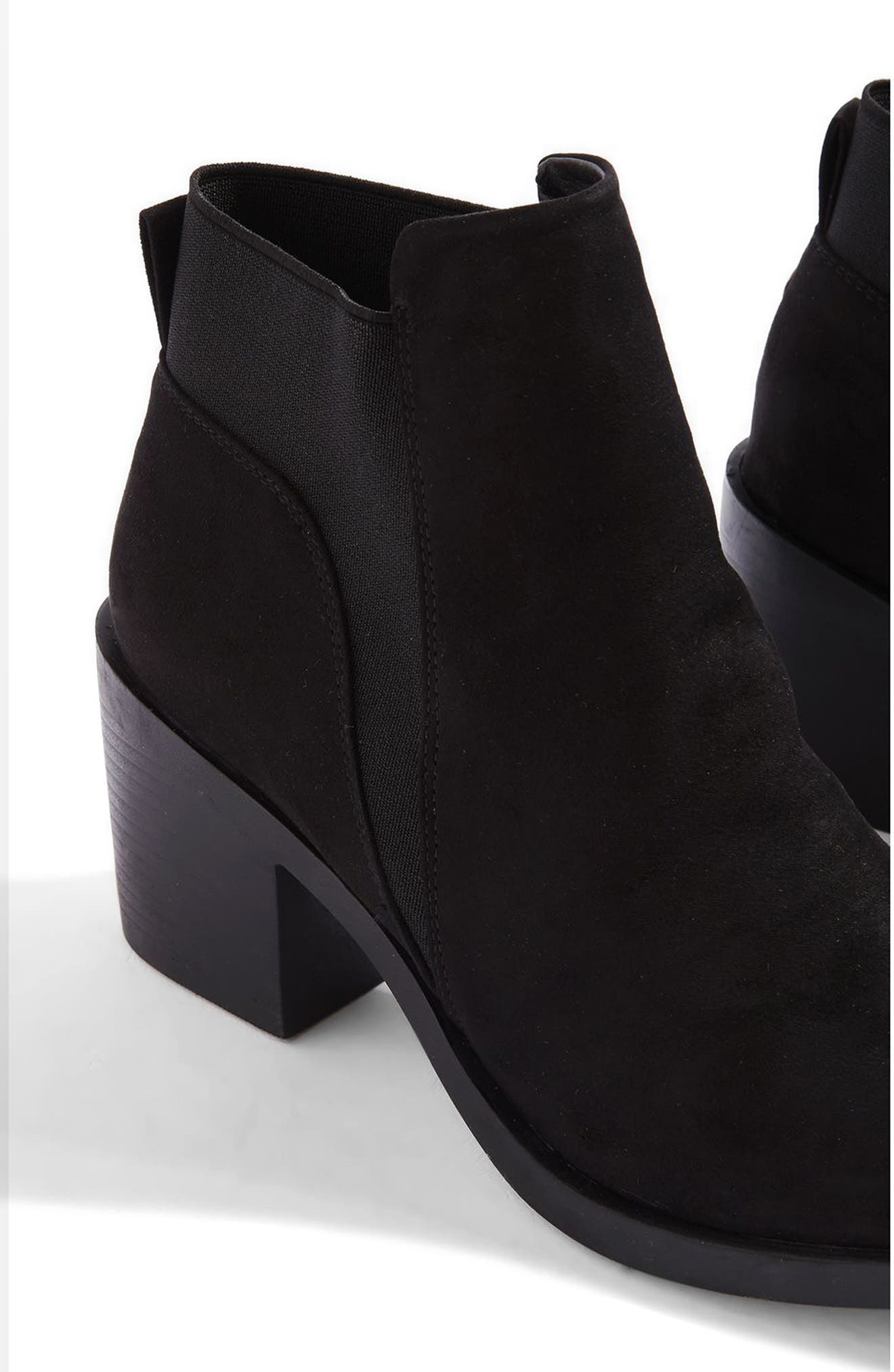 Buddy Block Heel Bootie,                             Alternate thumbnail 3, color,                             Black