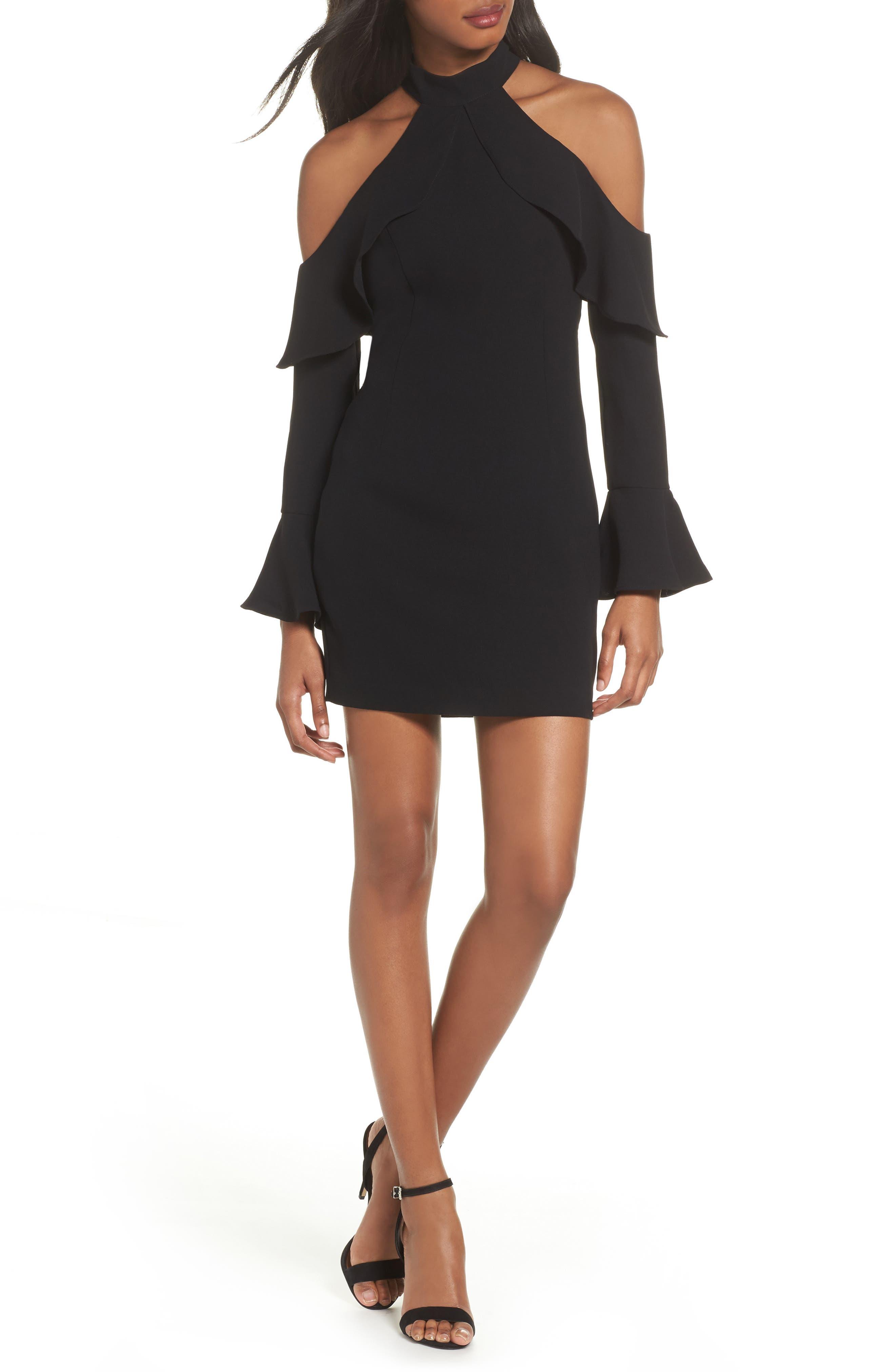 Nightshade Cold Shoulder Sheath Dress,                         Main,                         color, Black