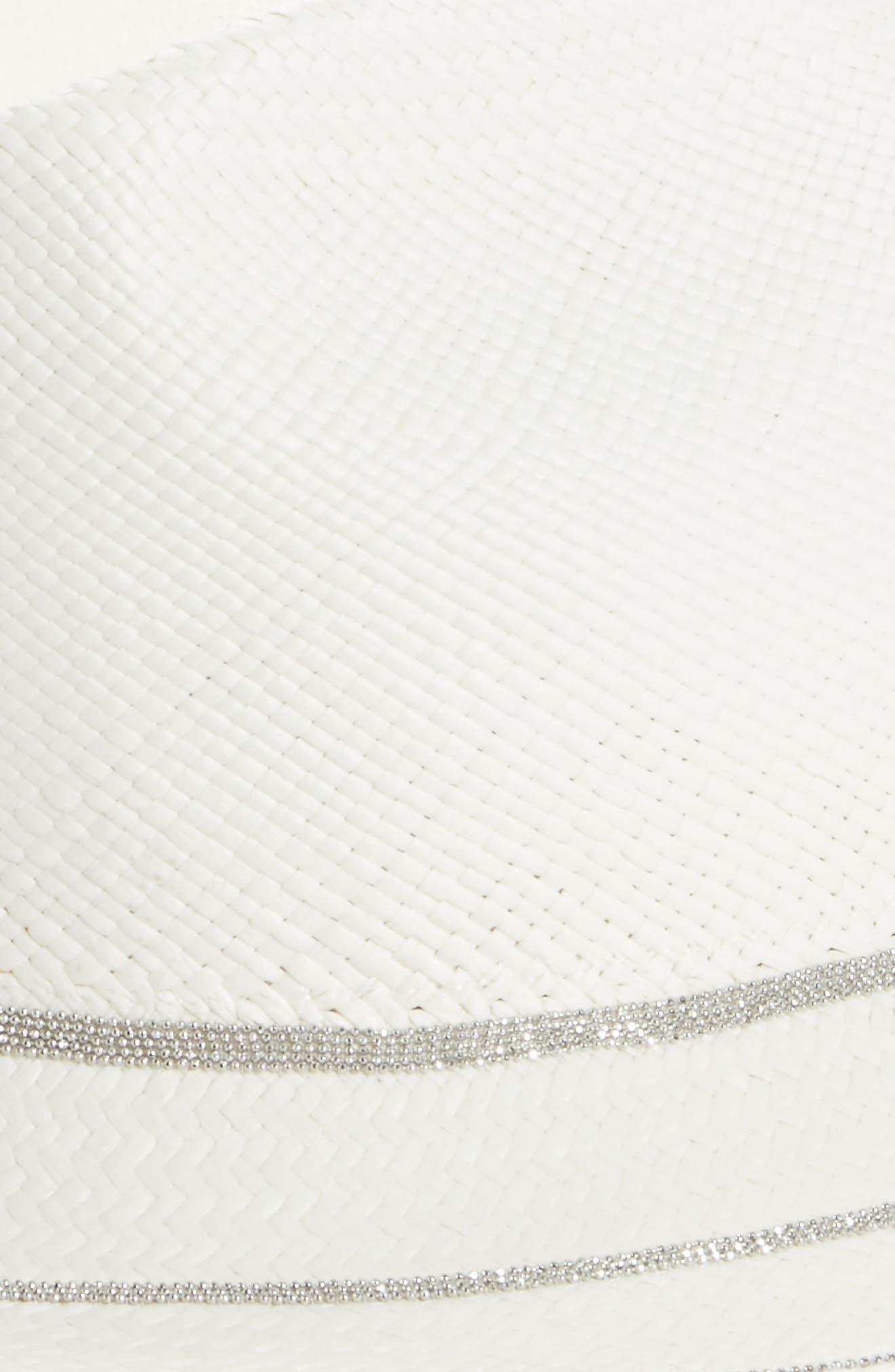 Alternate Image 2  - Fabiana Filippi Triple Layer Bead Straw Hat