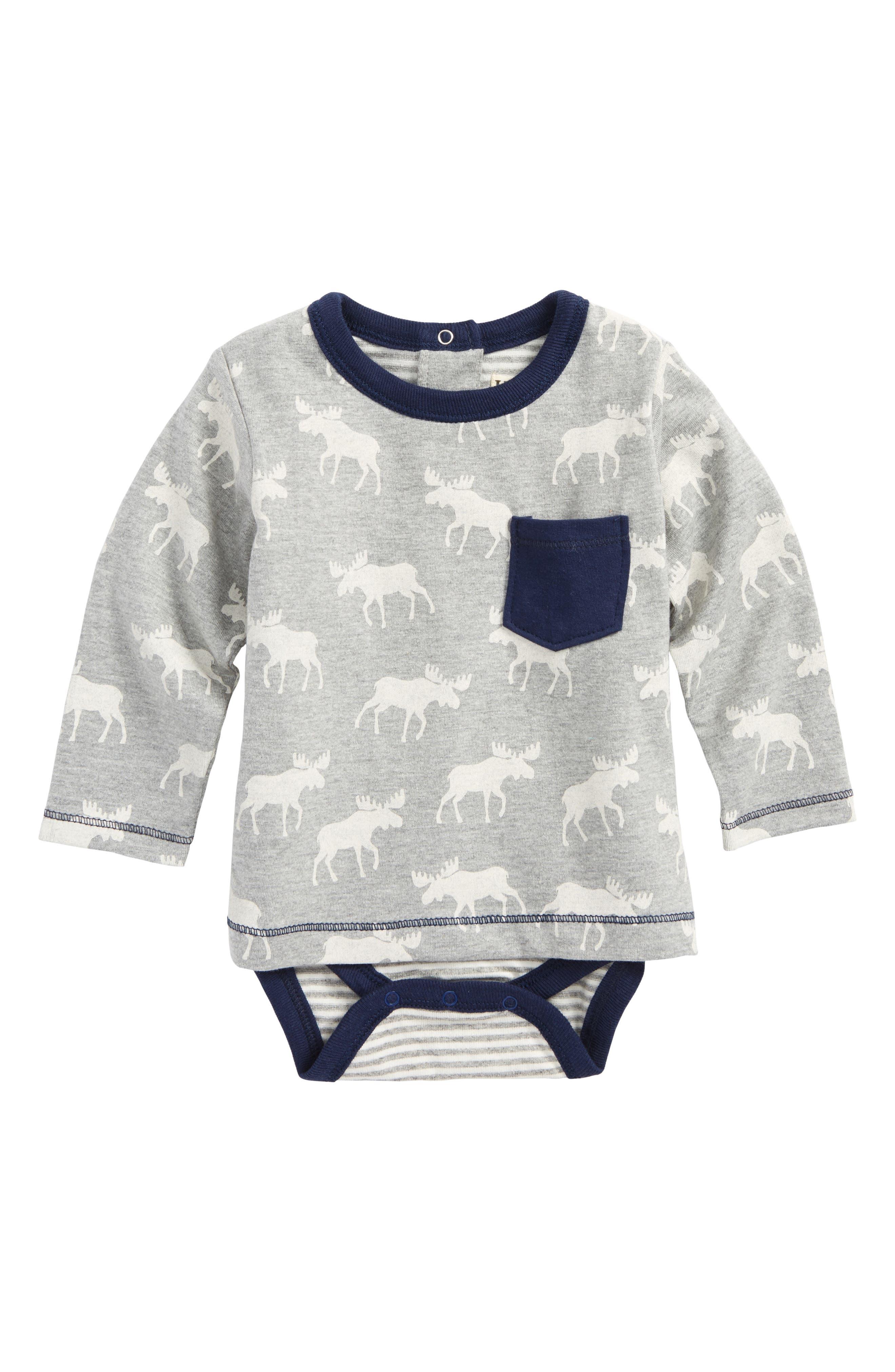 Hatley Moose Print T-Shirt with Bodysuit (Baby Boys)